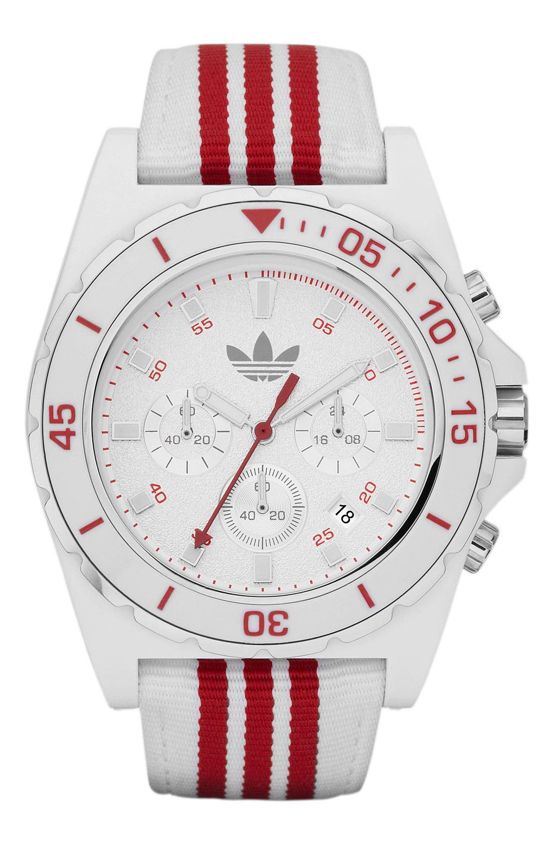 Alternate Image 1 Selected - adidas Originals 'Stockholm' Nylon Strap Watch, 44mm