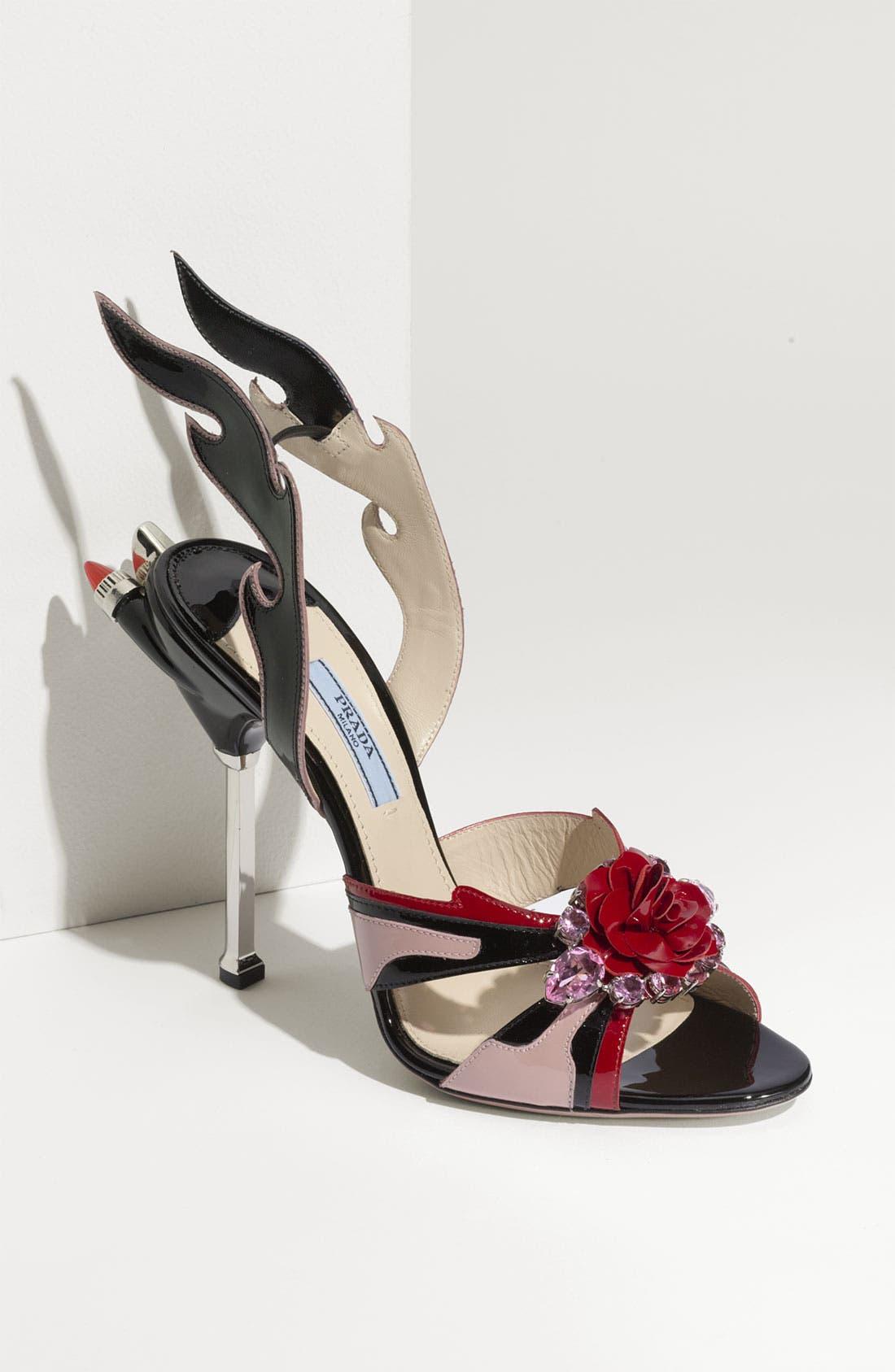 Main Image - Prada 'Tail Light Flame' Sandal