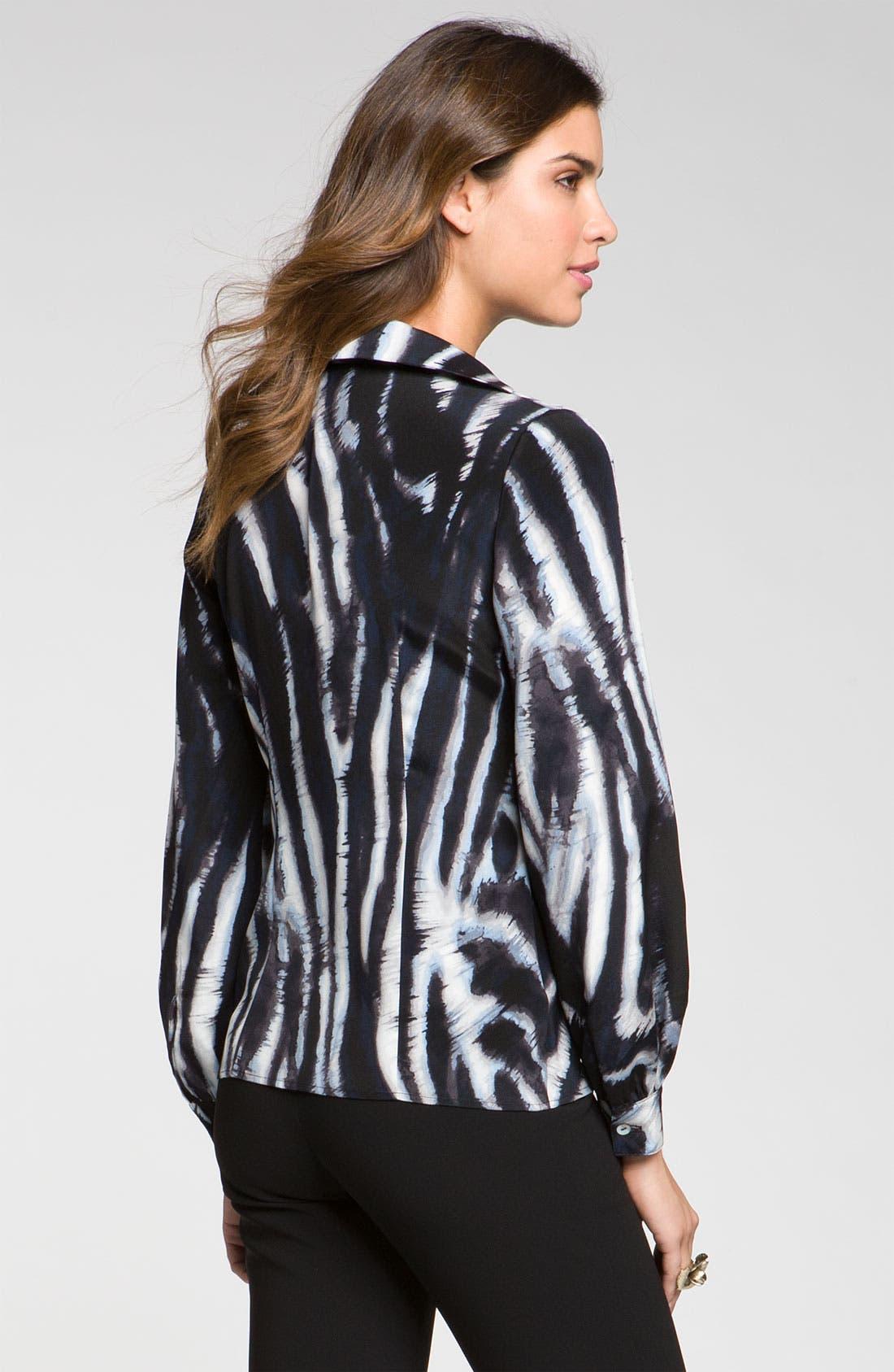 Alternate Image 2  - St. John Collection Easy Fit Zebra Print Blouse