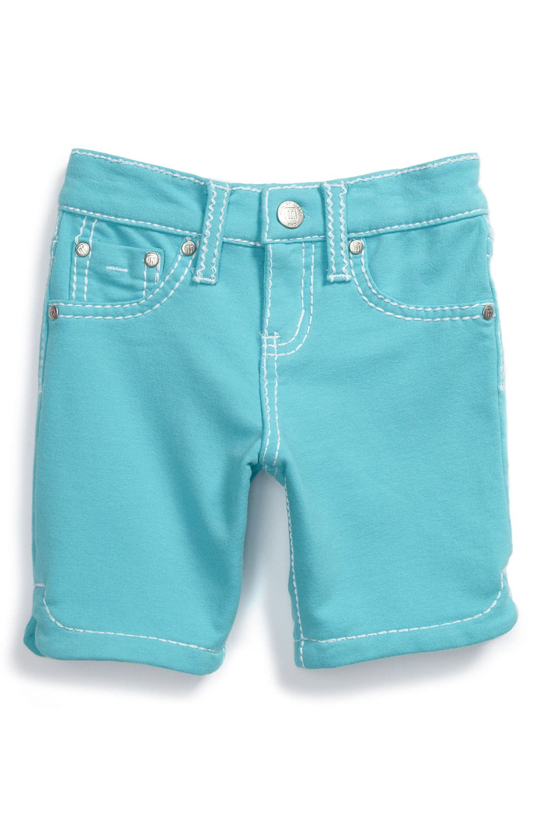 Alternate Image 2  - Tractr 'Heart Pocket' French Terry Bermuda Shorts (Little Girls)