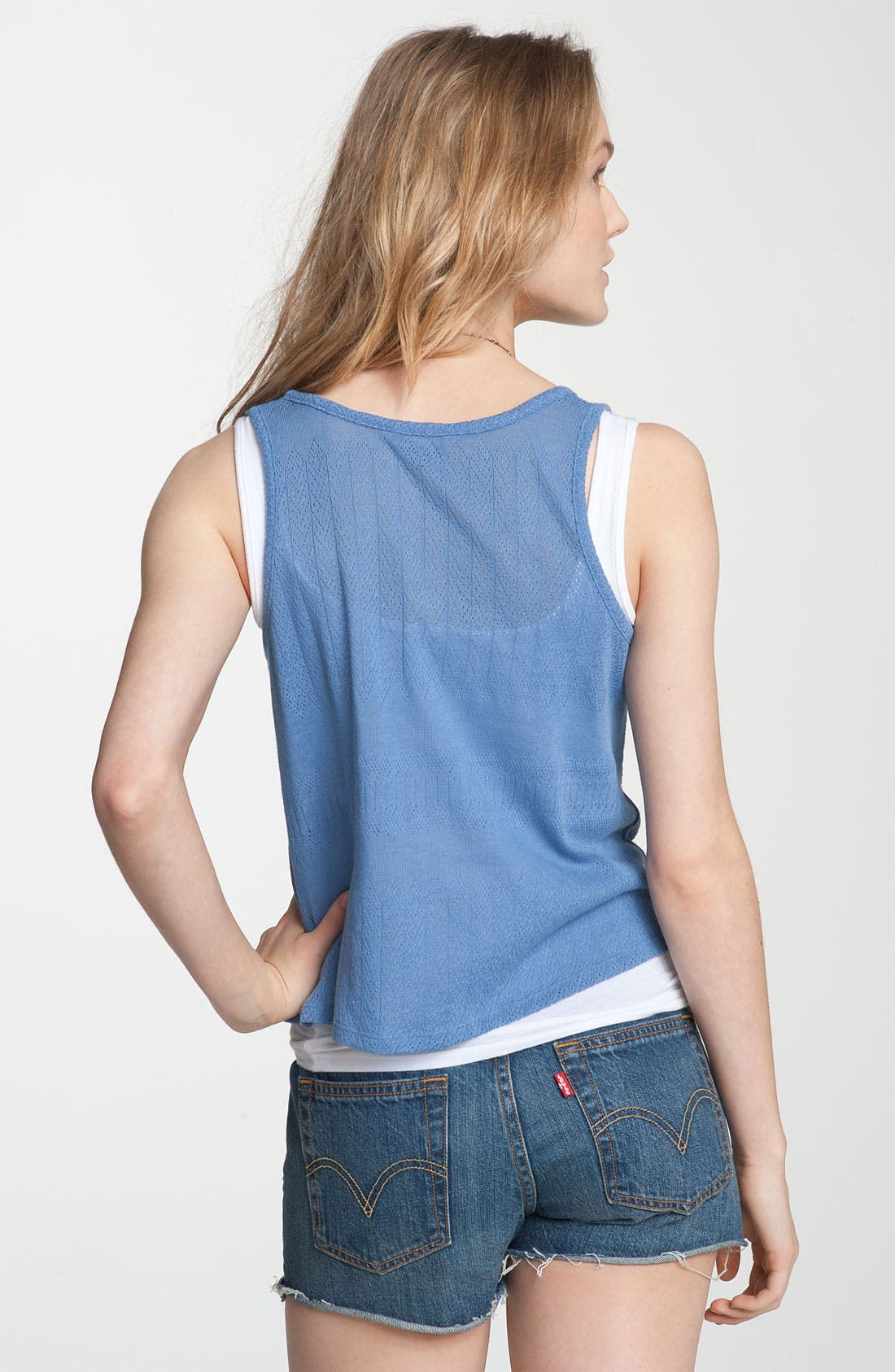 Alternate Image 2  - Rubbish® Button Front Crop Tank (Juniors)