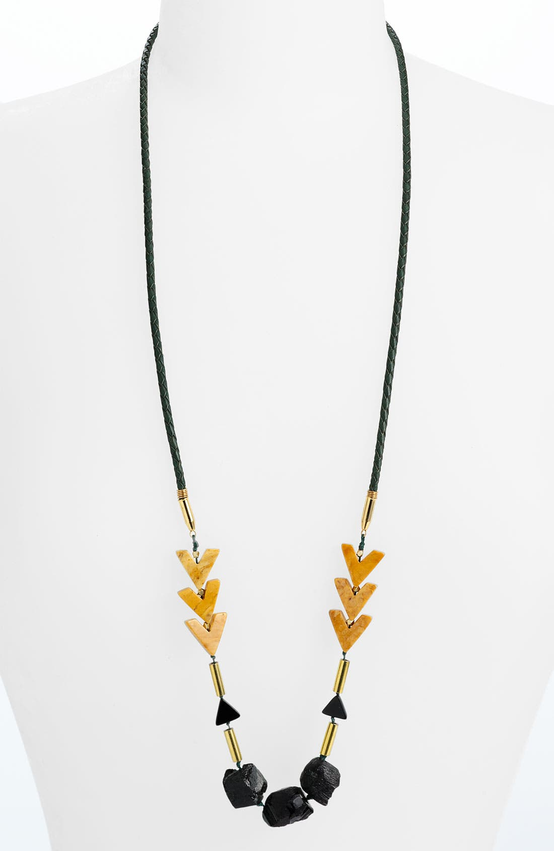 Alternate Image 1 Selected - Kris Nations 'El Dorado' Leather Necklace