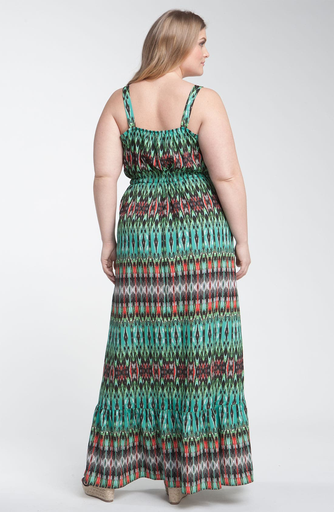 Alternate Image 2  - Bellatrix Print Maxi Dress (Plus)