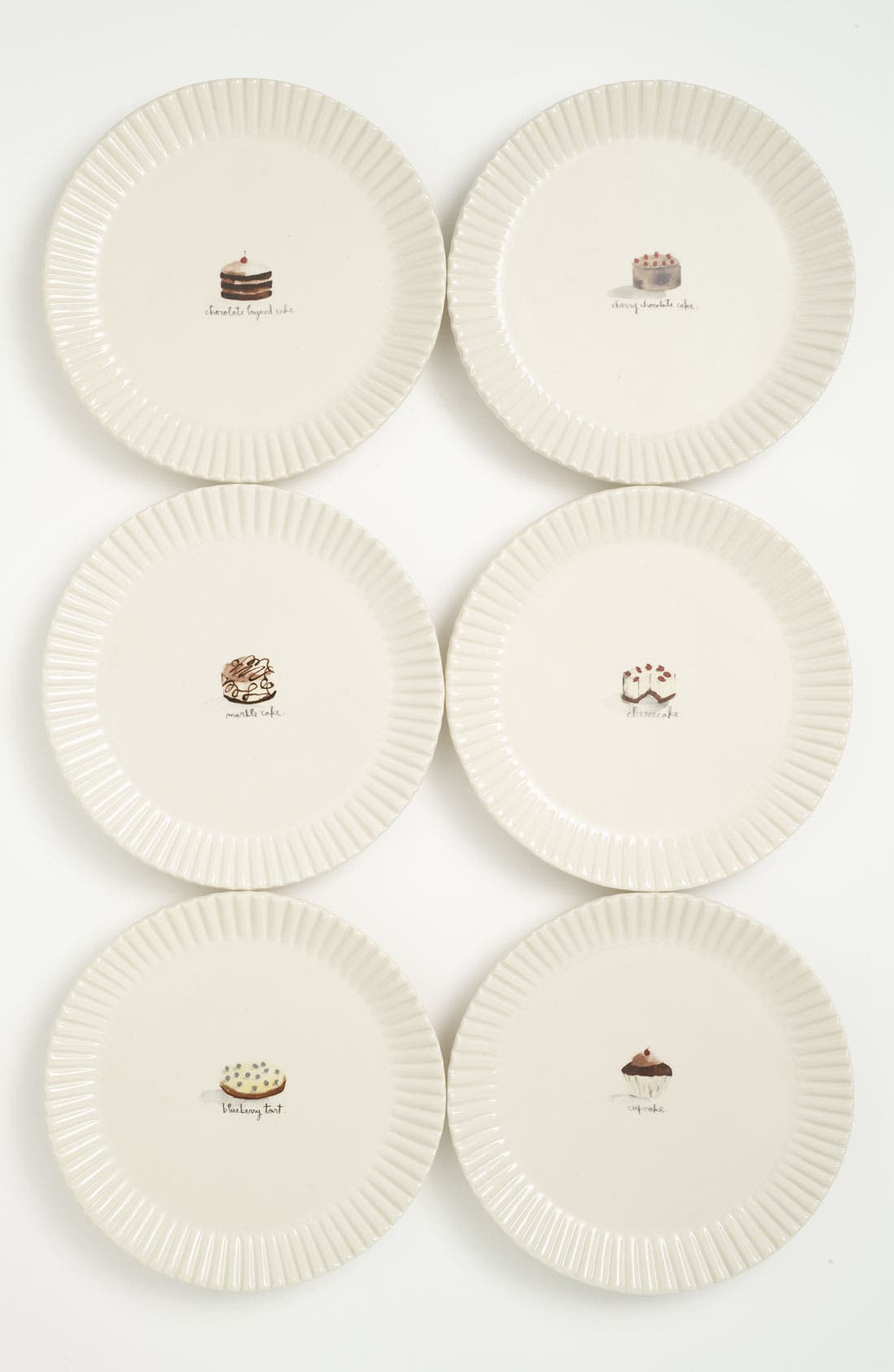 Alternate Image 1 Selected - Rae Dunn by Magenta Dessert Plates (Set of 6)