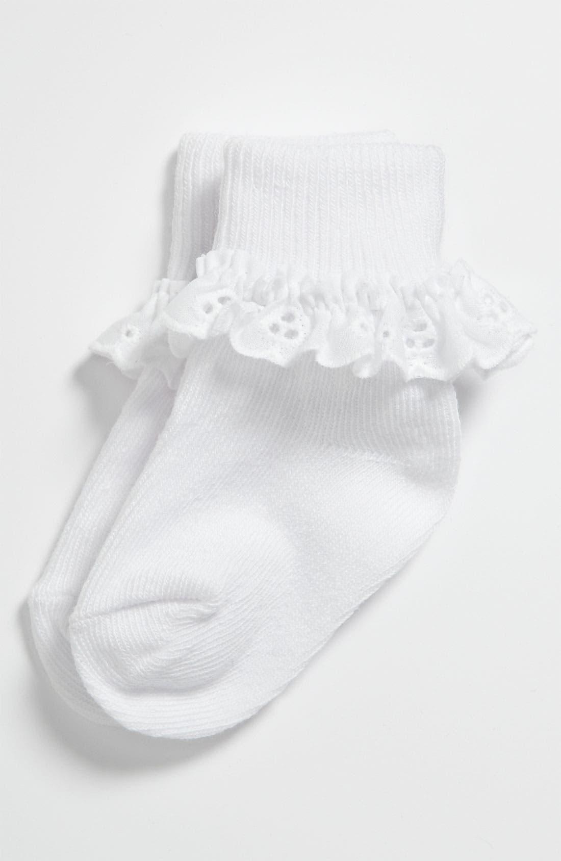 Alternate Image 1 Selected - Nordstrom Lace Socks (Infant, Toddler & Big Girl)
