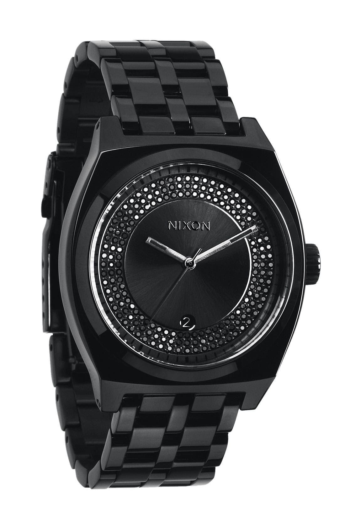 Alternate Image 1 Selected - Nixon 'The Monopoly' Black Crystal Bracelet Watch