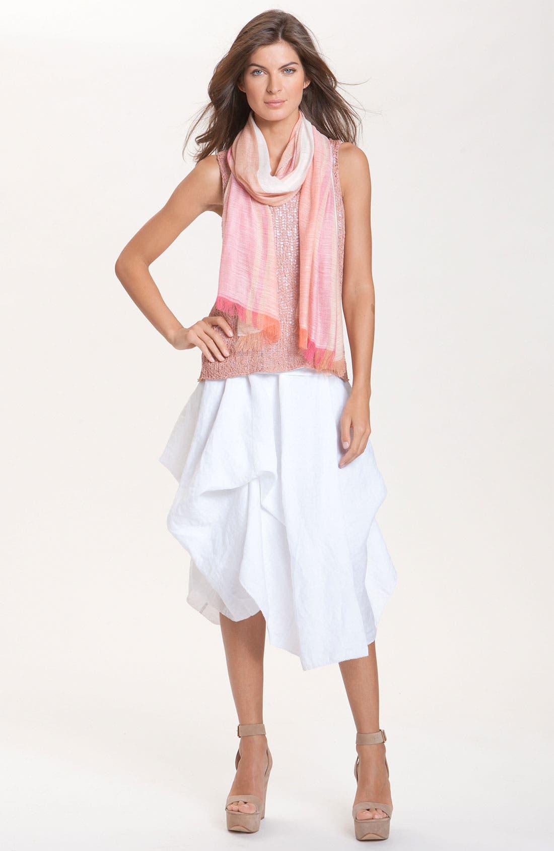 Alternate Image 4  - Eileen Fisher Cotton Dress with Convertible Hem