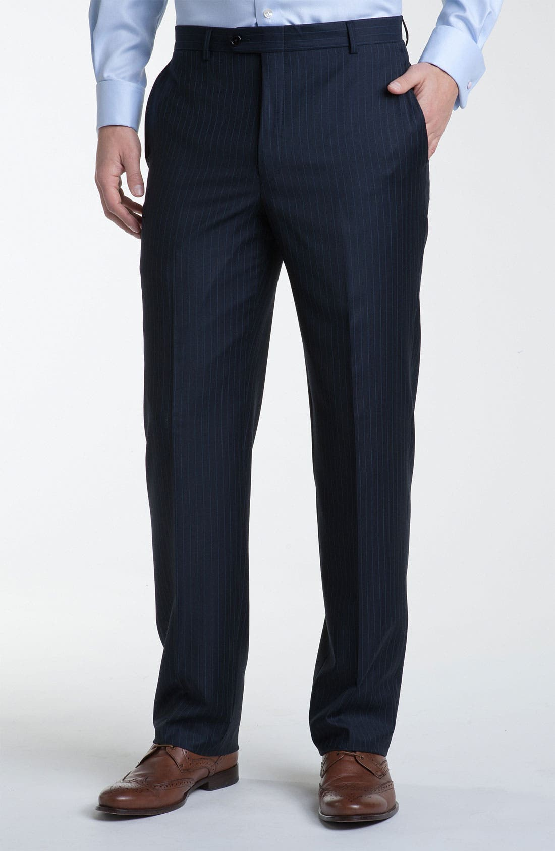 Alternate Image 4  - Hickey Freeman Bead Stripe Wool Suit