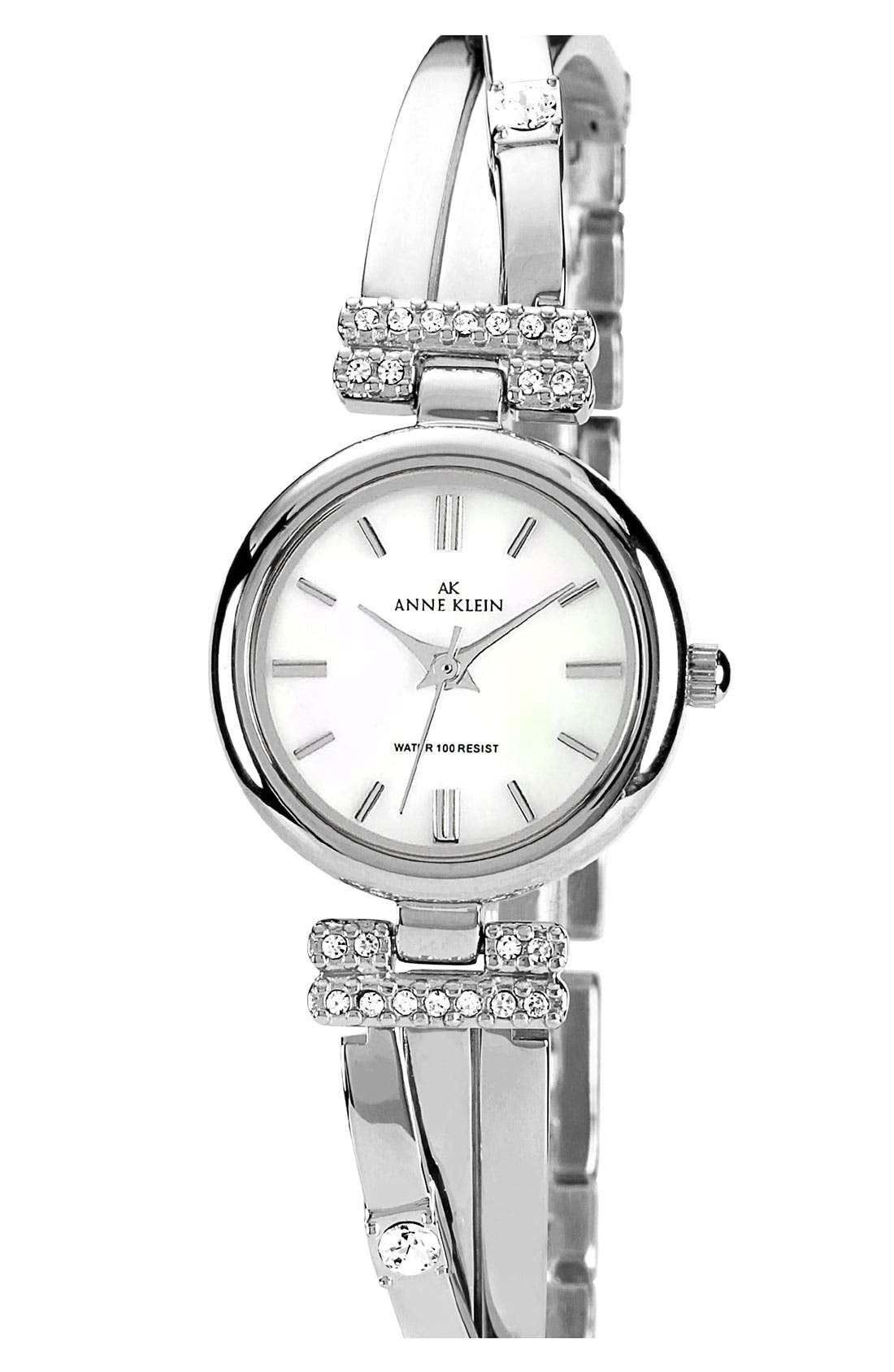 Alternate Image 1 Selected - Anne Klein Round Bangle Watch, 22mm