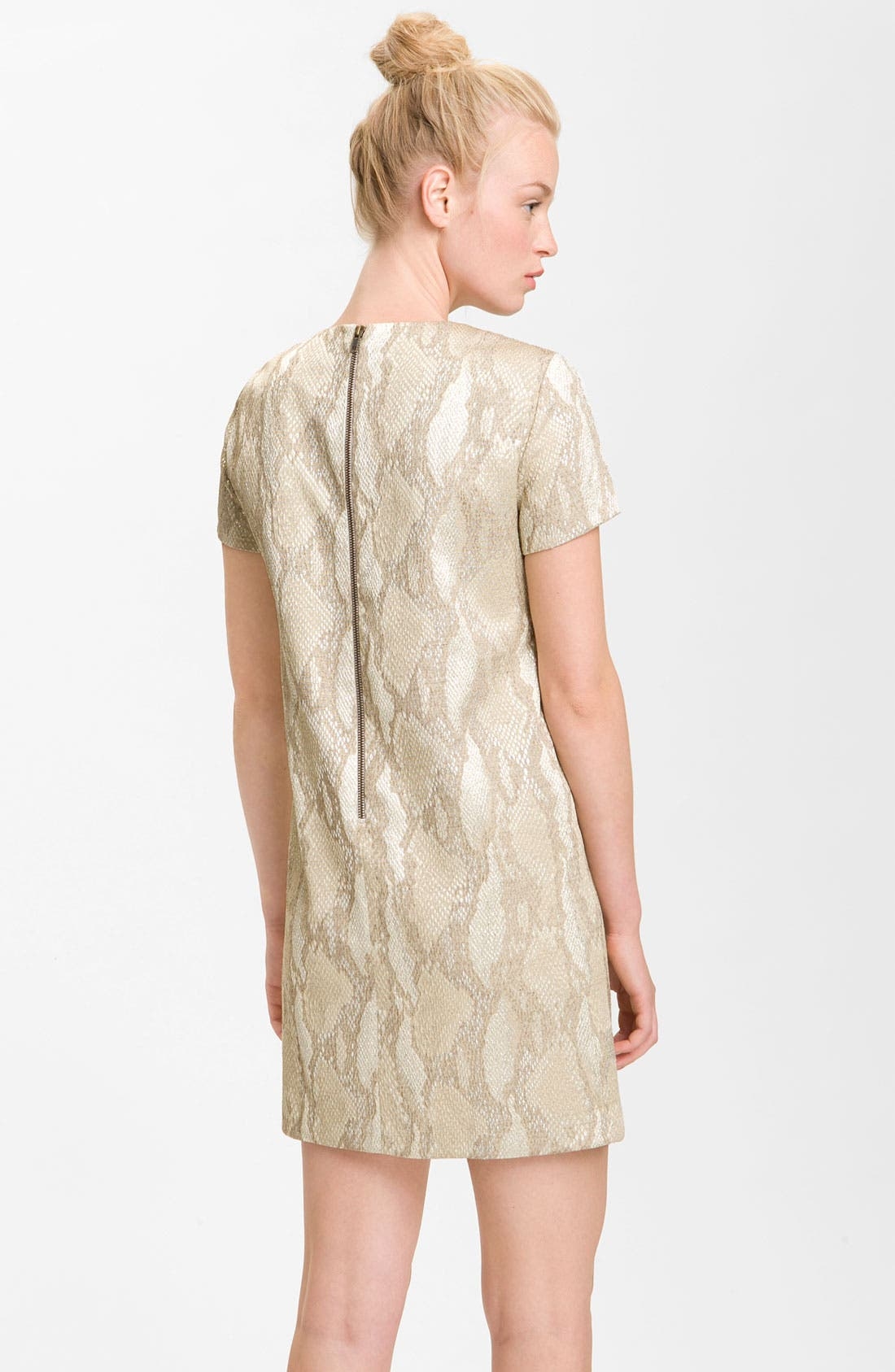 Alternate Image 2  - French Connection 'Fast Metal' Print Shift Dress