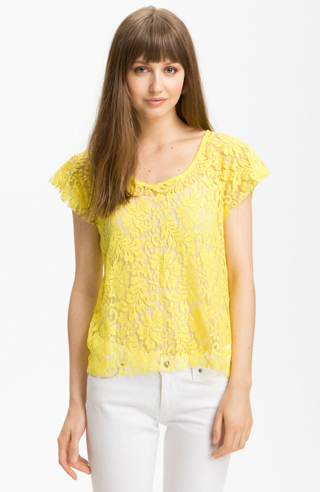 Alternate Image 1 Selected - Patterson J. Kincaid Relaxed Lace Tee