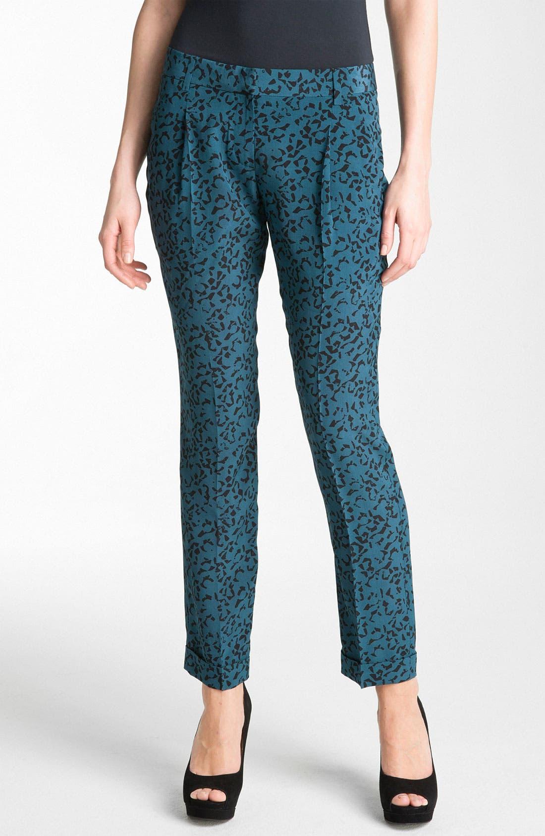 Alternate Image 1 Selected - Theory 'Latani - B.Abstract' Print Tapered Silk Pants