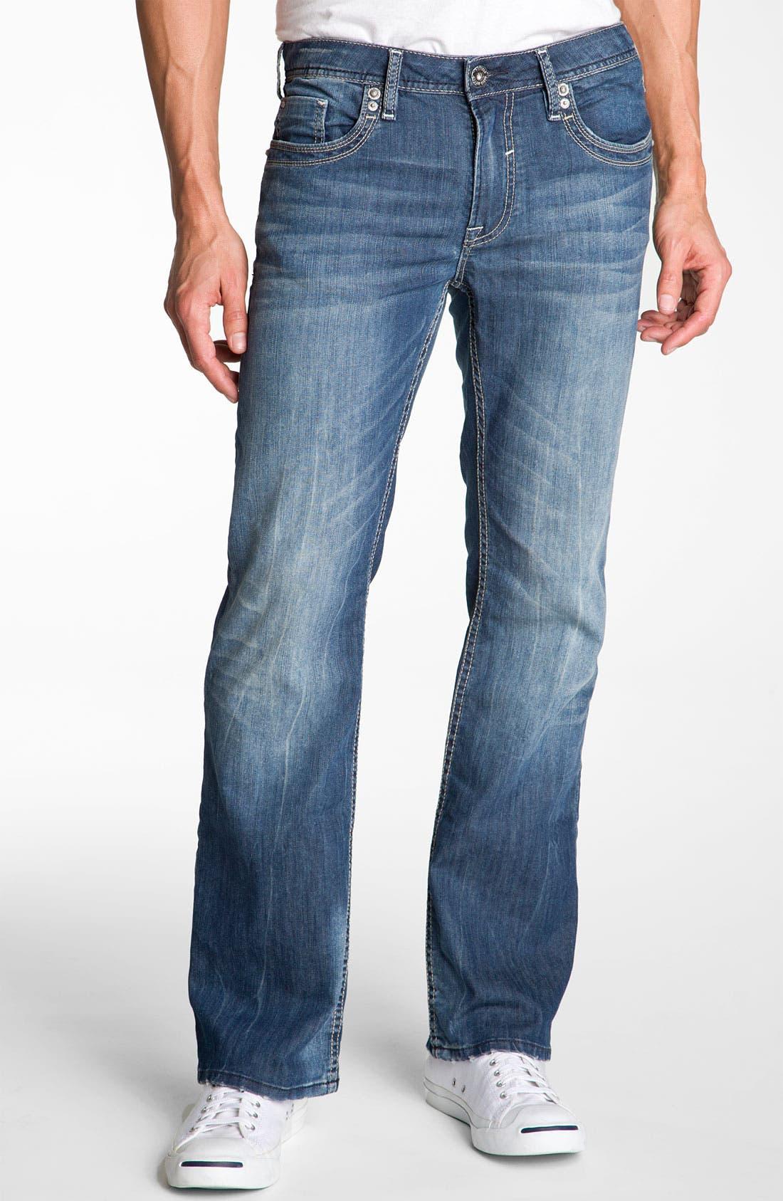 Alternate Image 2  - Buffalo Jeans 'Dixel' Straight Leg Jeans (Aged & Distressed Wash)