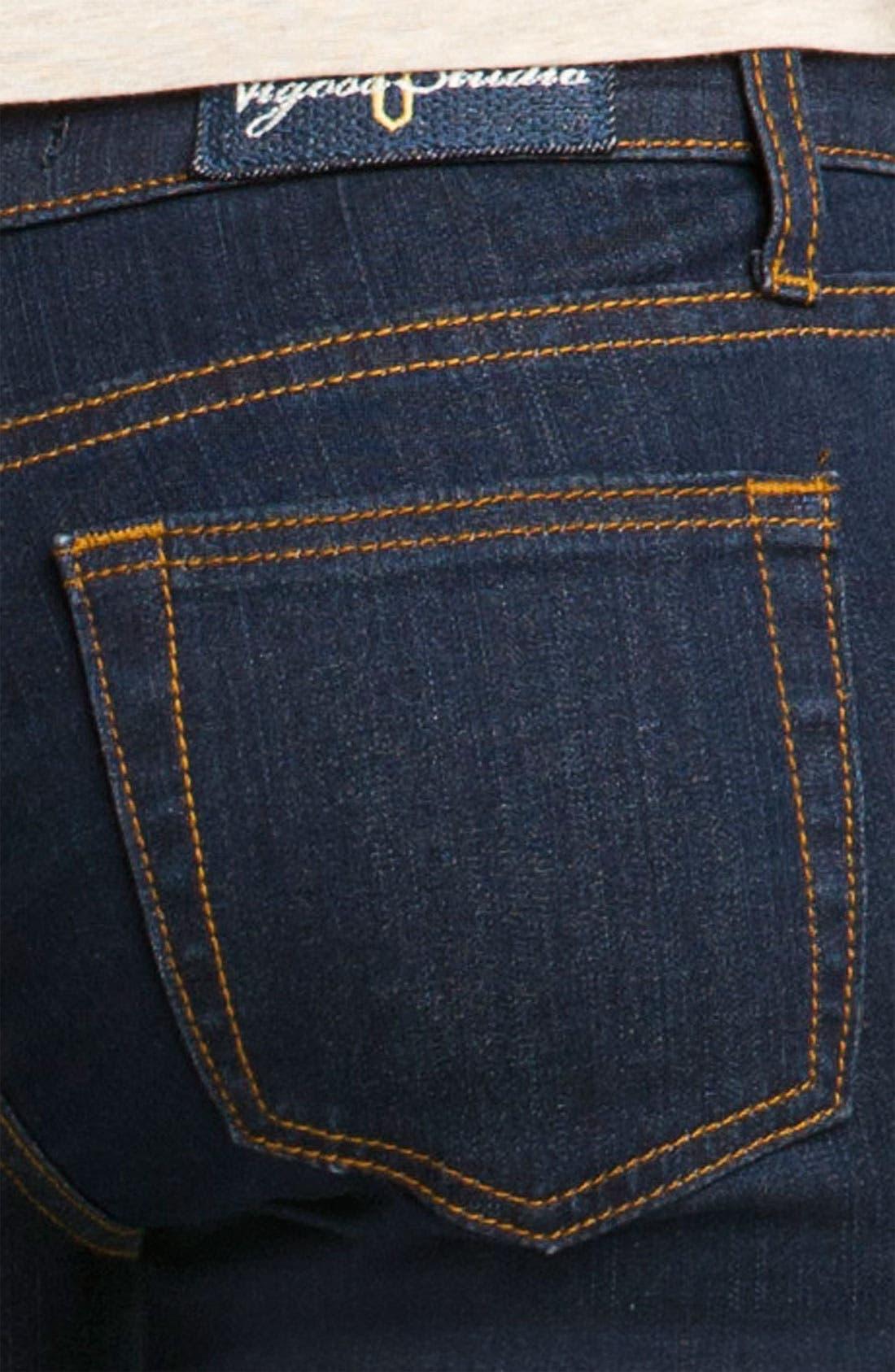 Alternate Image 3  - Vigoss Skinny Crop Jeans (Rinse Wash) (Juniors)