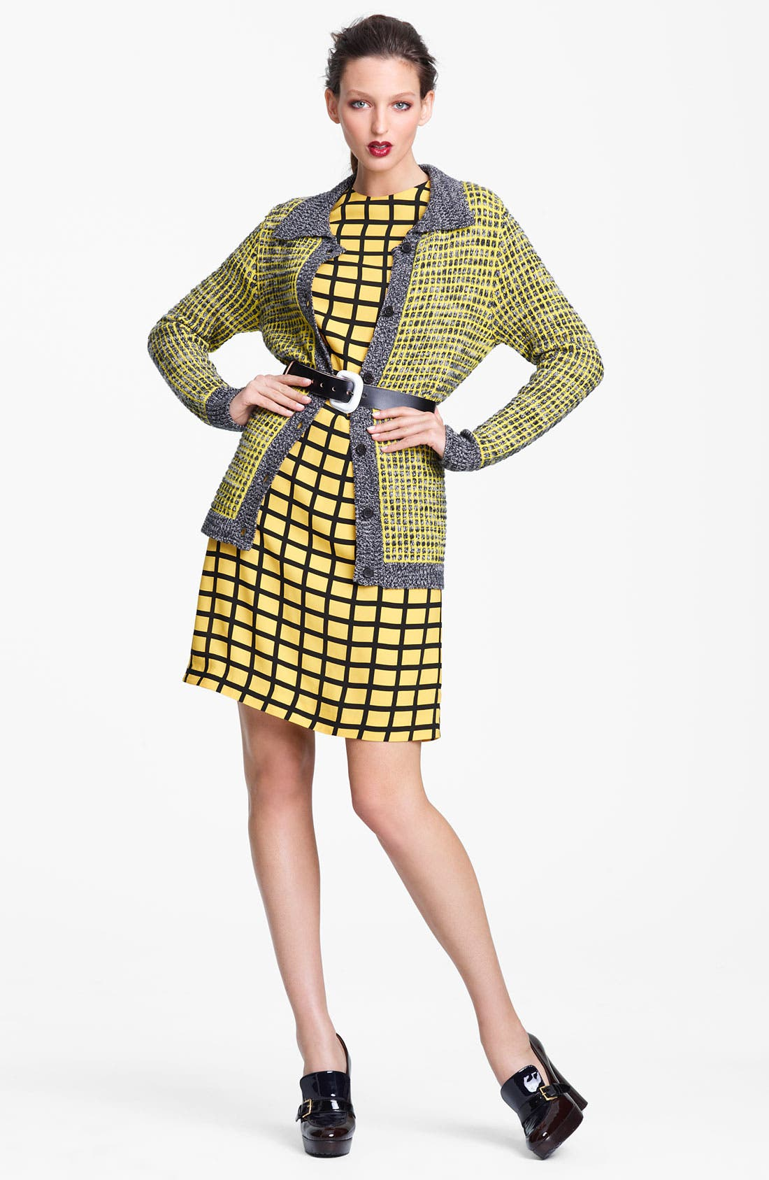 Alternate Image 4  - Marni Edition Grid Print Woven Dress