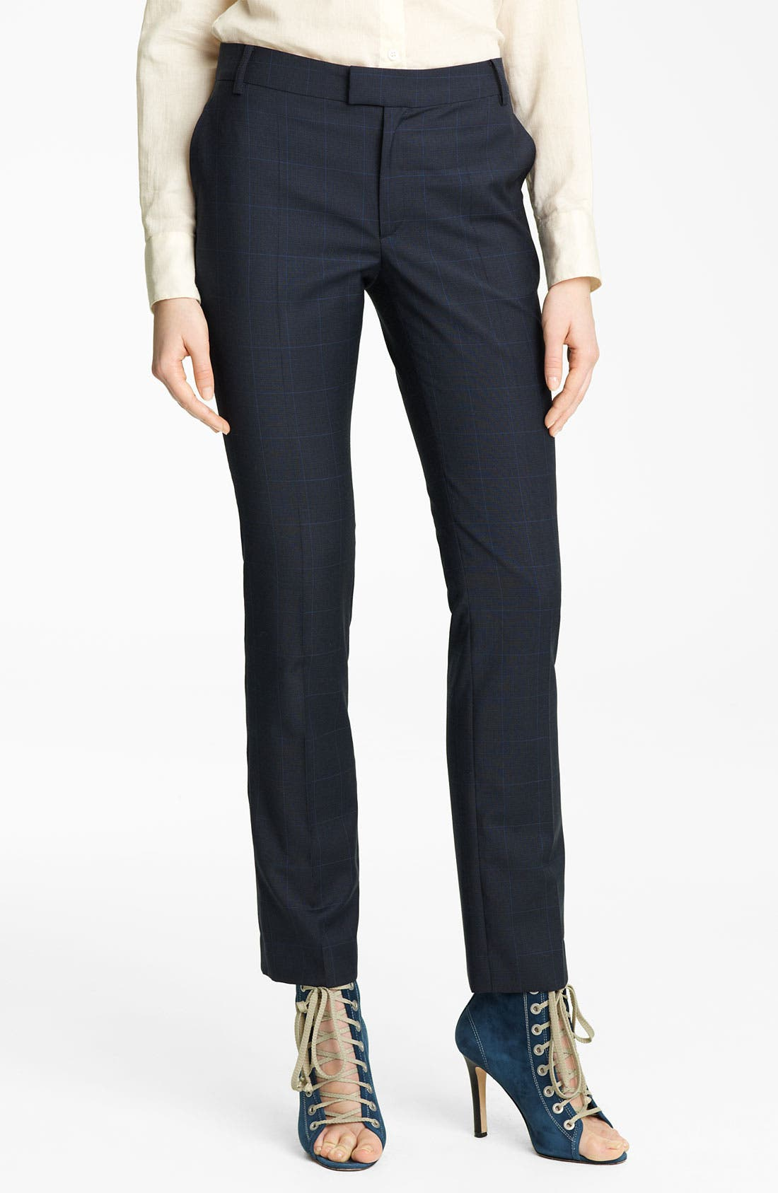 Alternate Image 1 Selected - Band of Outsiders Straight Leg Stretch Wool Pants