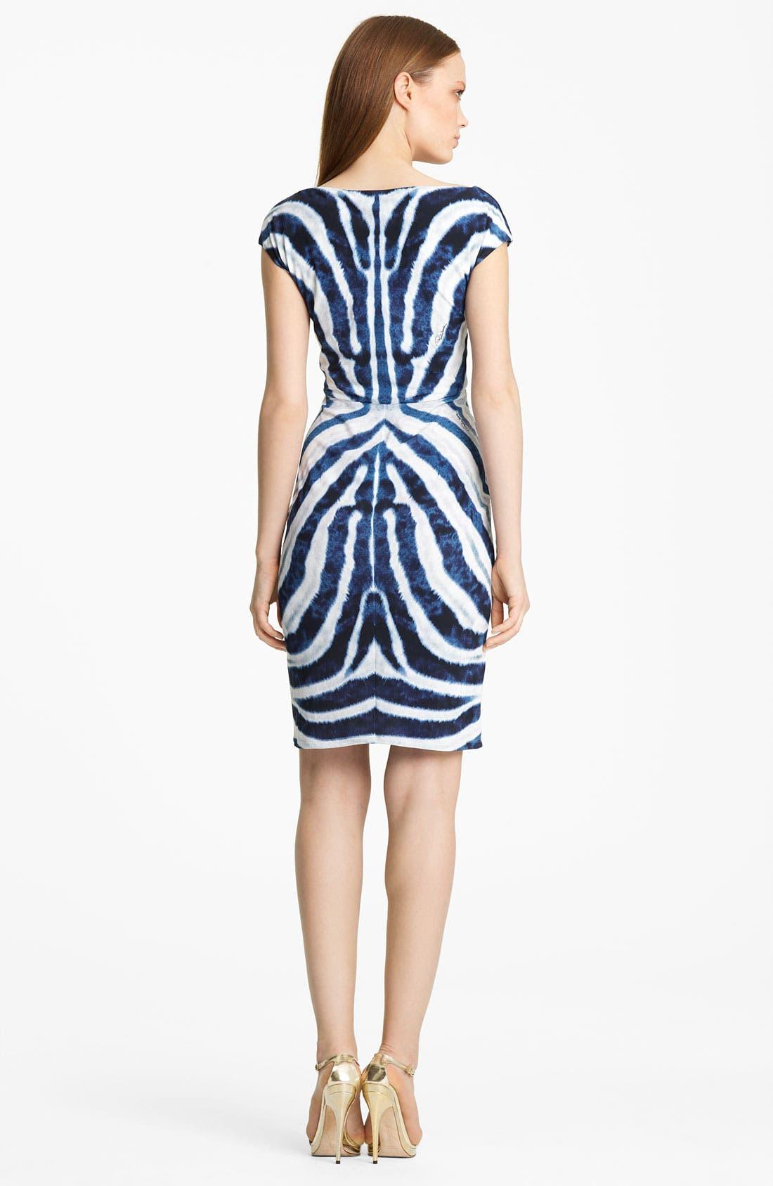 Alternate Image 2  - Roberto Cavalli Twist Neck Jersey Dress
