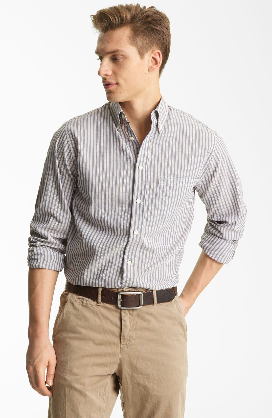 Alternate Image 1 Selected - Billy Reid 'Tuscumbia' Stripe Woven Shirt