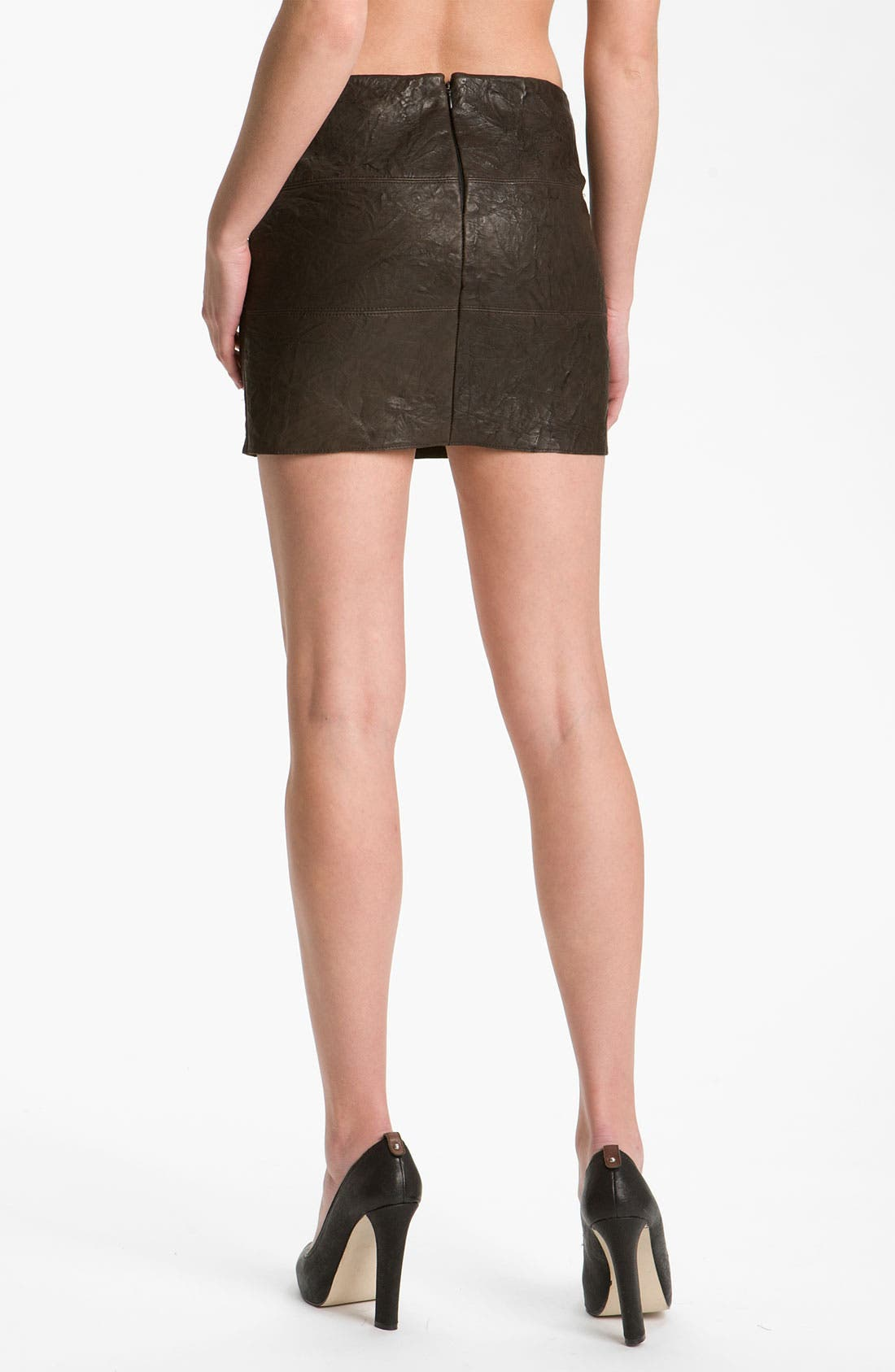 Alternate Image 2  - Bailey 44 'Brevity Is the Soul' Patchwork Leather Miniskirt