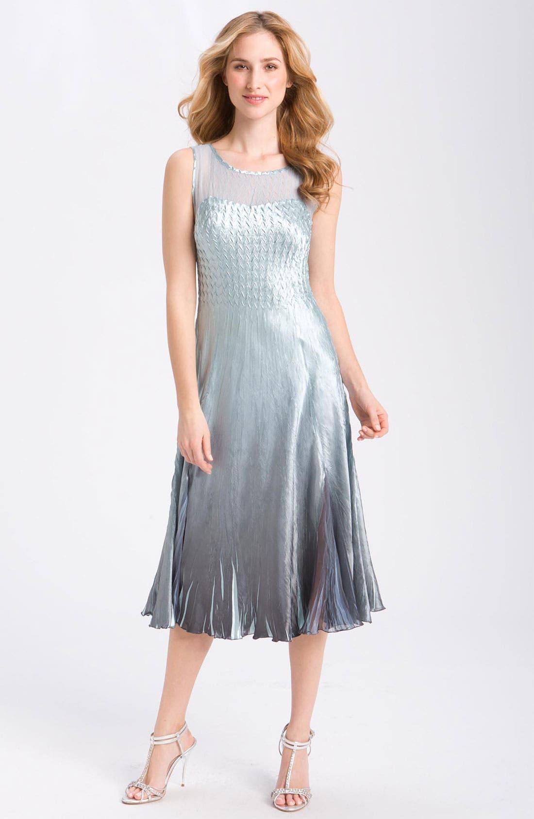 Alternate Image 2  - Komarov Sleeveless Chiffon Dress & Jacket