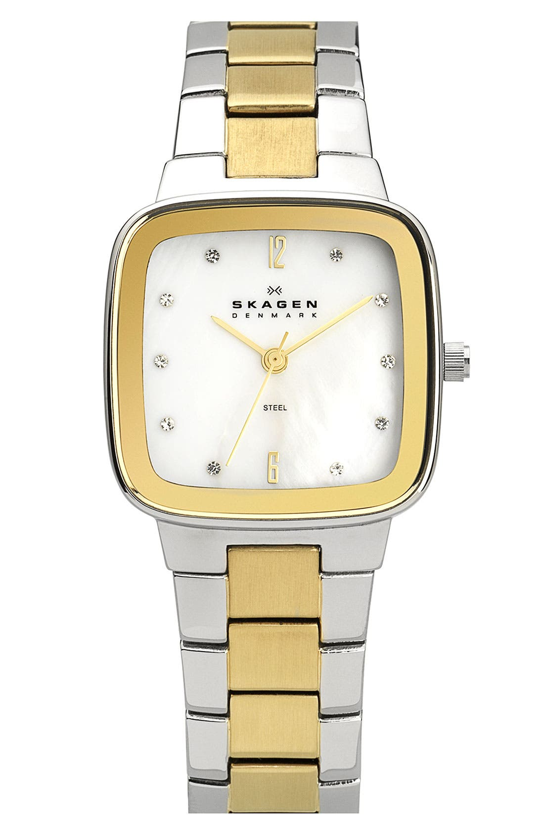 Alternate Image 1 Selected - Skagen Square Bracelet Watch