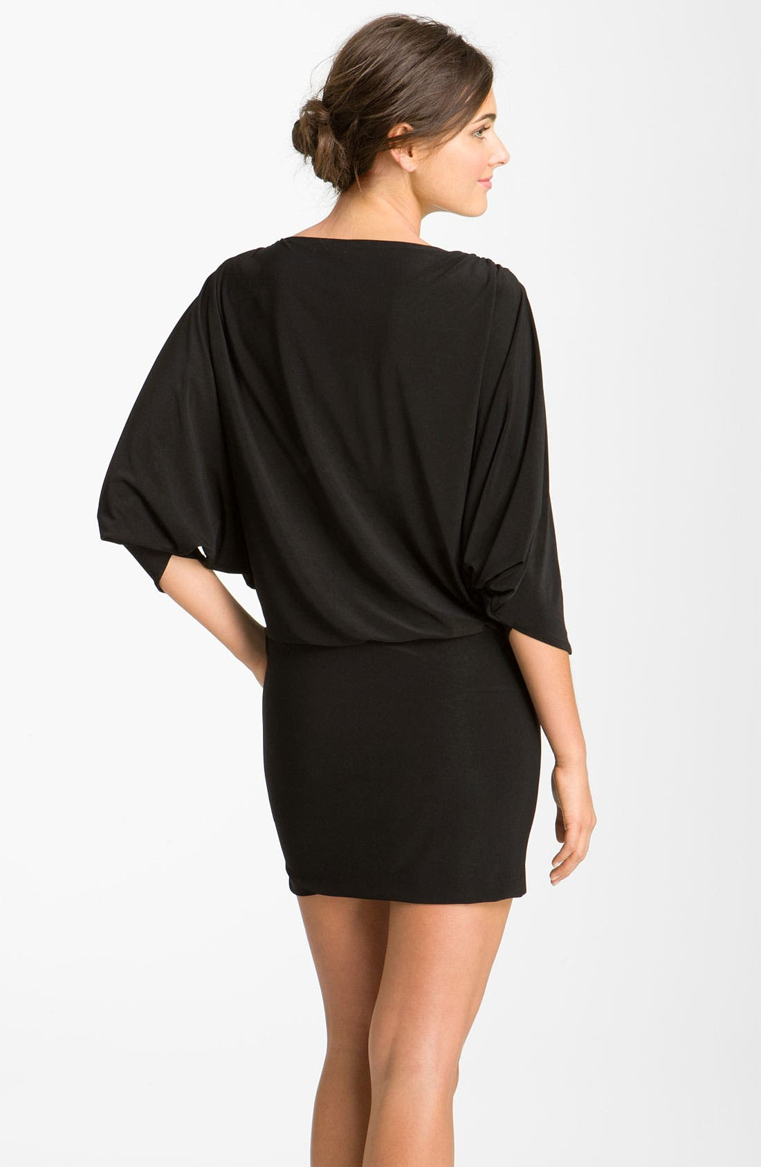 Alternate Image 2  - Betsy & Adam Embellished Split Sleeve Jersey Minidress