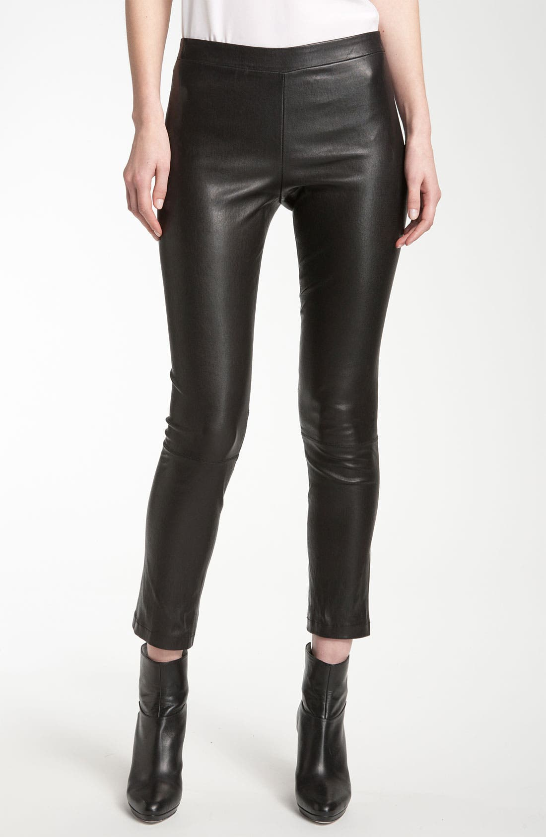 Alternate Image 1 Selected - Vince Crop Leather Legging