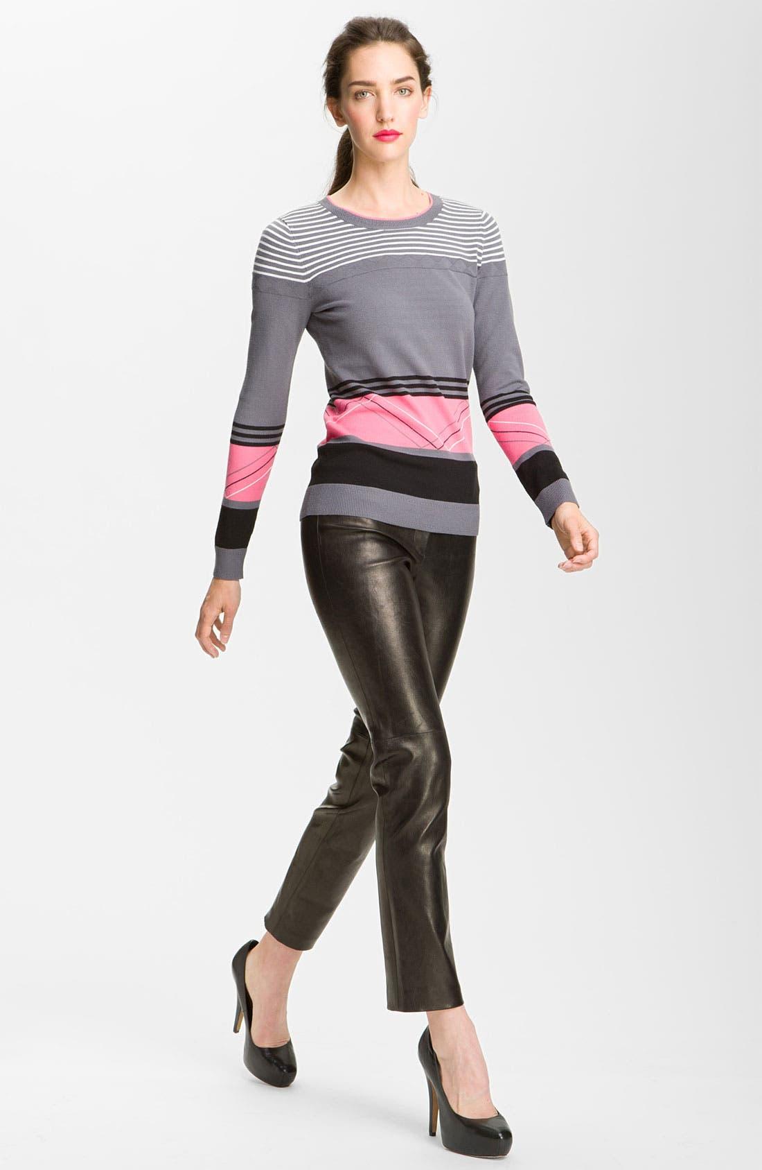 Alternate Image 3  - Milly Slim Leg Leather Ankle Pants
