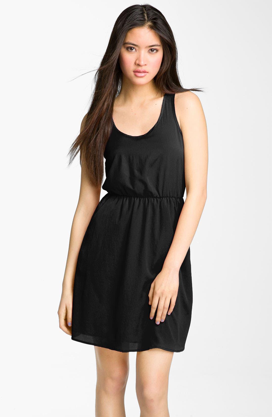 Main Image - Lush Cutout Back Dress (Juniors)