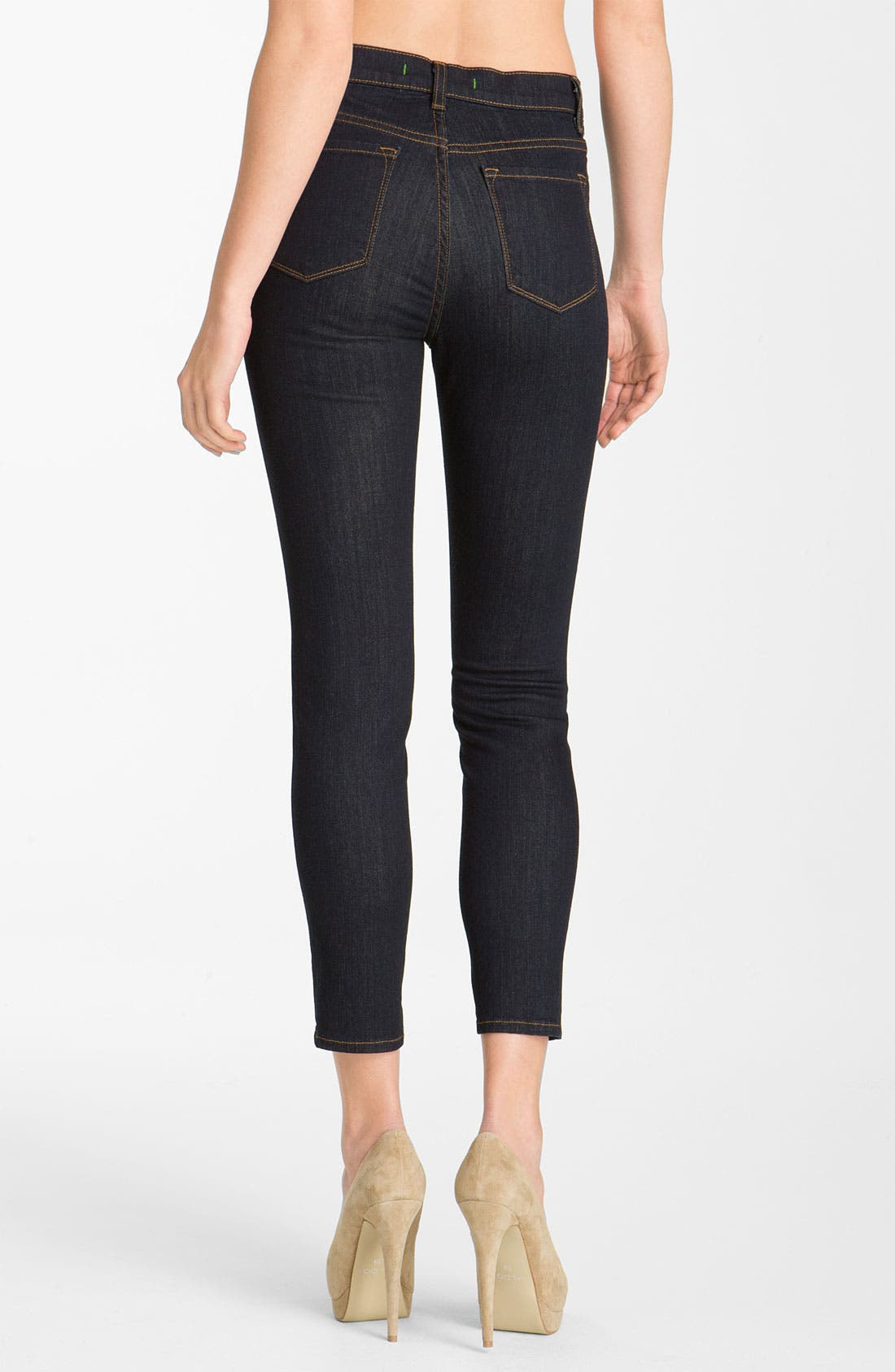 Alternate Image 2  - J Brand 'Maria' Crop Skinny Stretch Jeans (Starless)