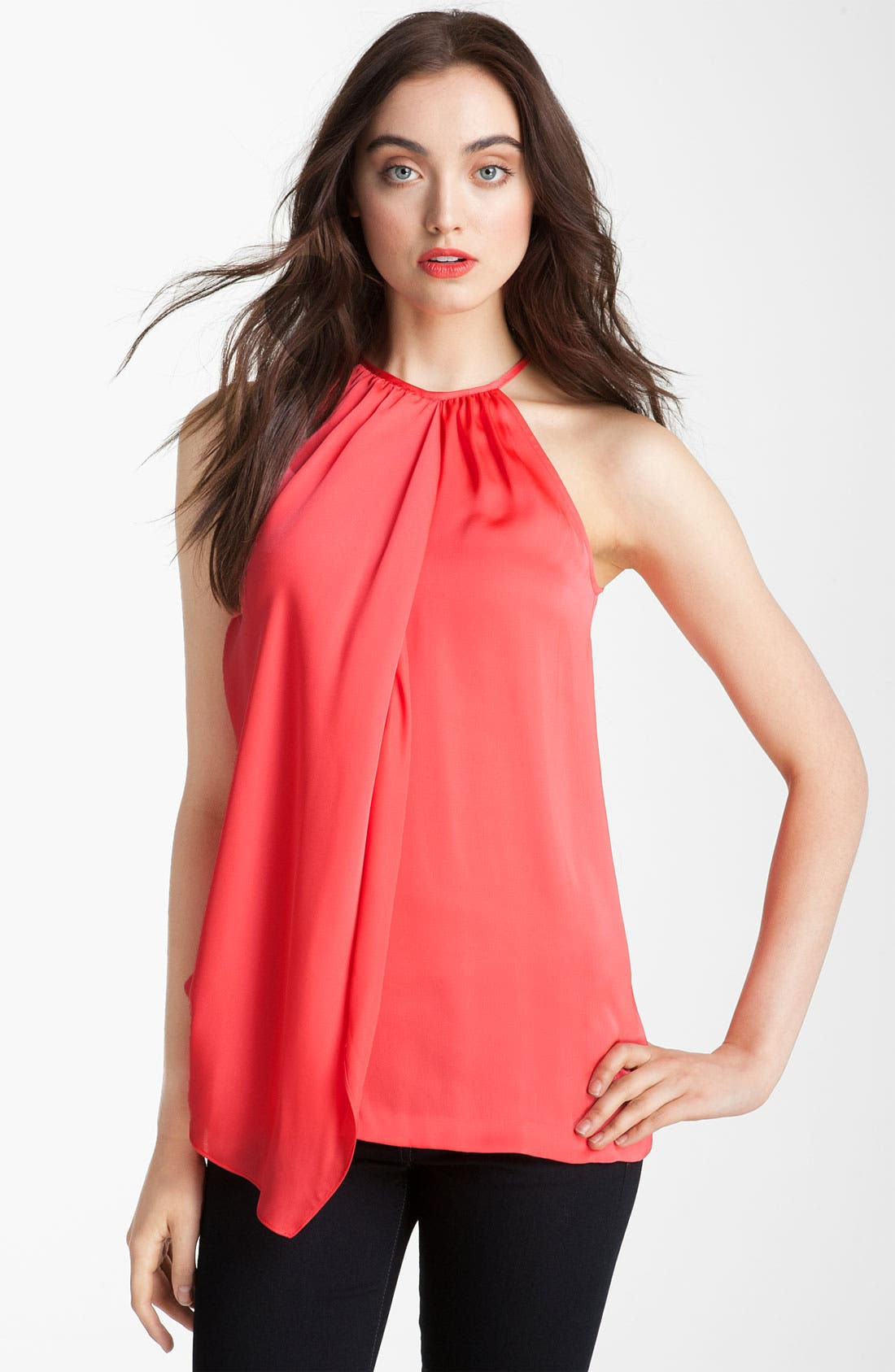 Main Image - Vince Camuto Satin Halter Blouse
