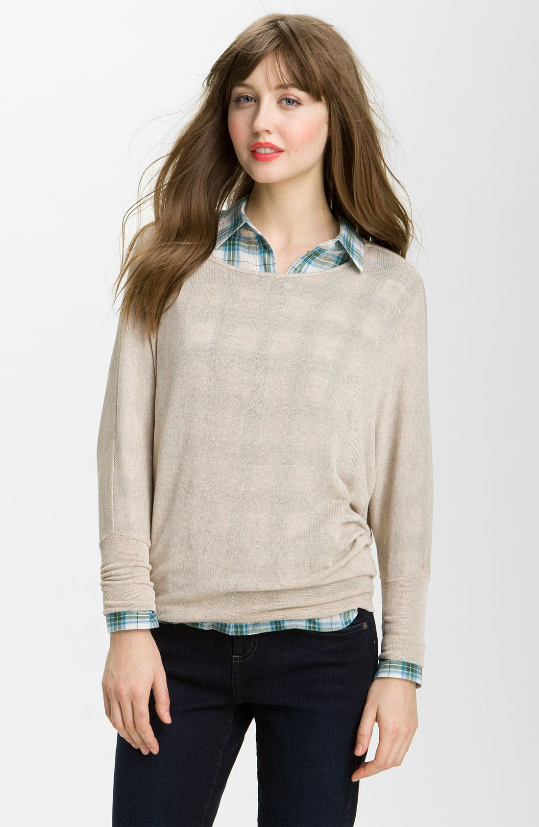 Alternate Image 1 Selected - KUT from the Kloth Batwing Sleeve Sweater Knit Top