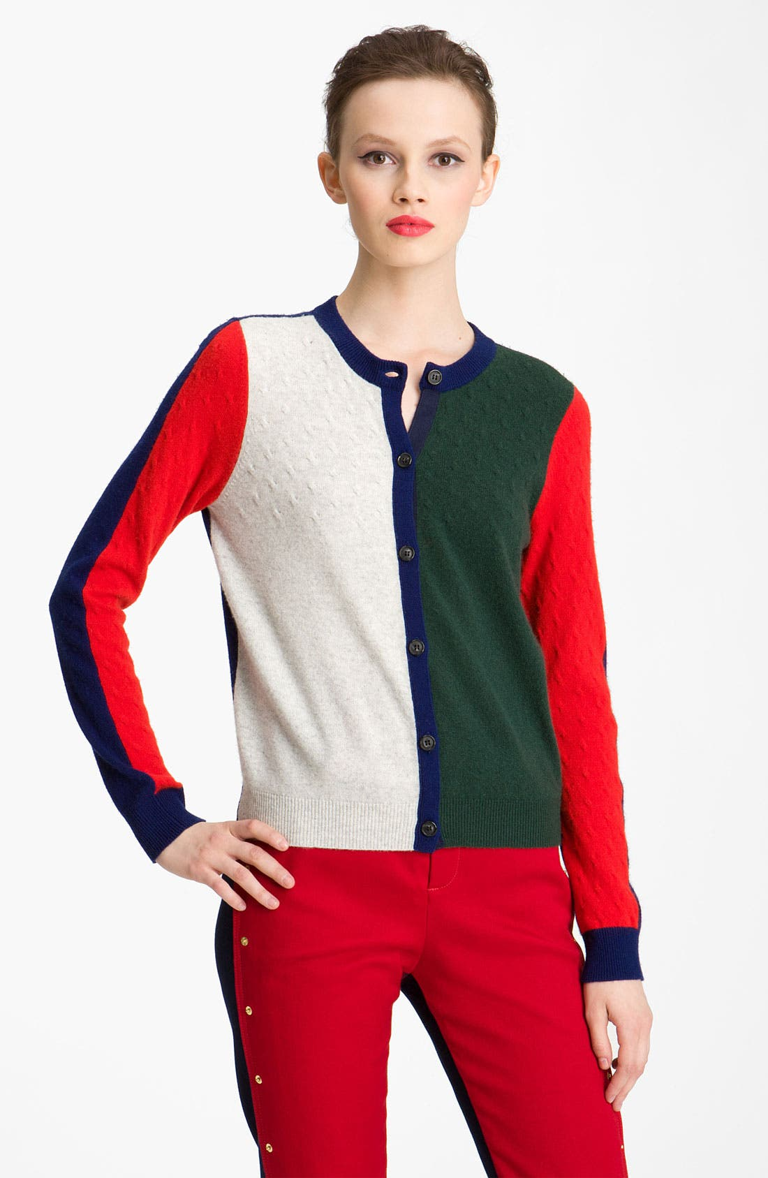 Alternate Image 1 Selected - KENZO Colorblock Cashmere Cardigan