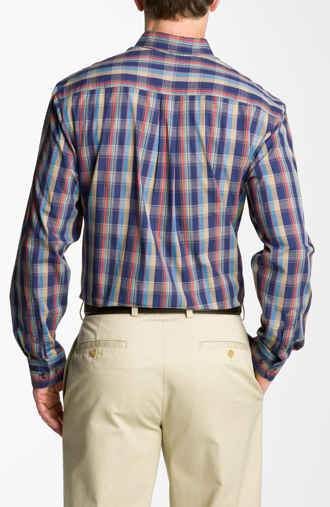 Alternate Image 2  - Cutter & Buck 'Palouse' Plaid Sport Shirt (Big & Tall)