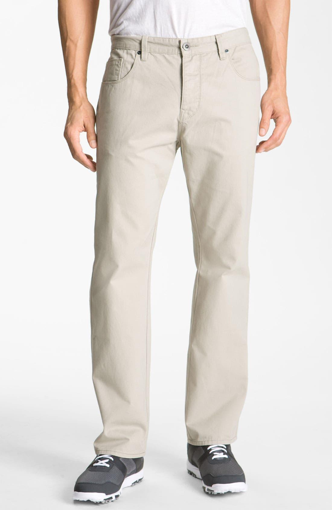 Alternate Image 1 Selected - Cutter & Buck 'Pike' Five-Pocket Pants (Big & Tall)