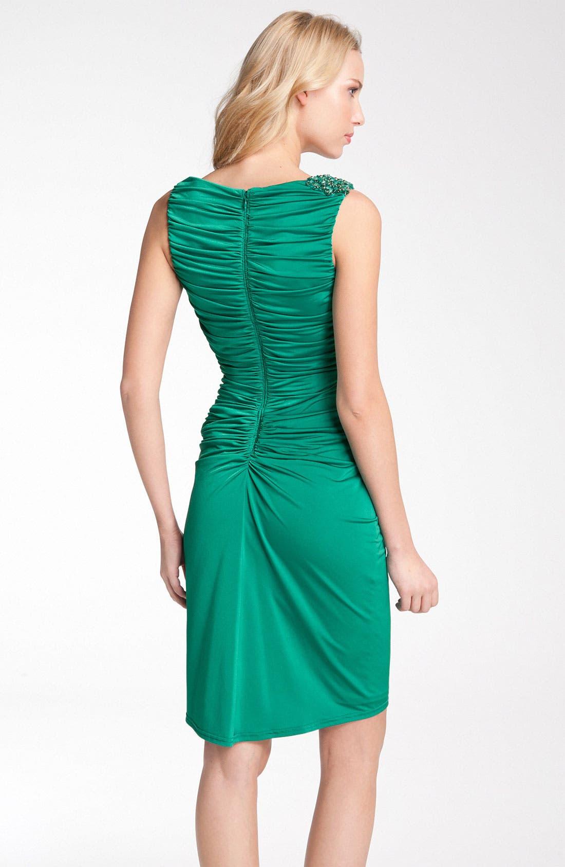 Alternate Image 2  - Tadashi Shoji Ruched Jersey Dress