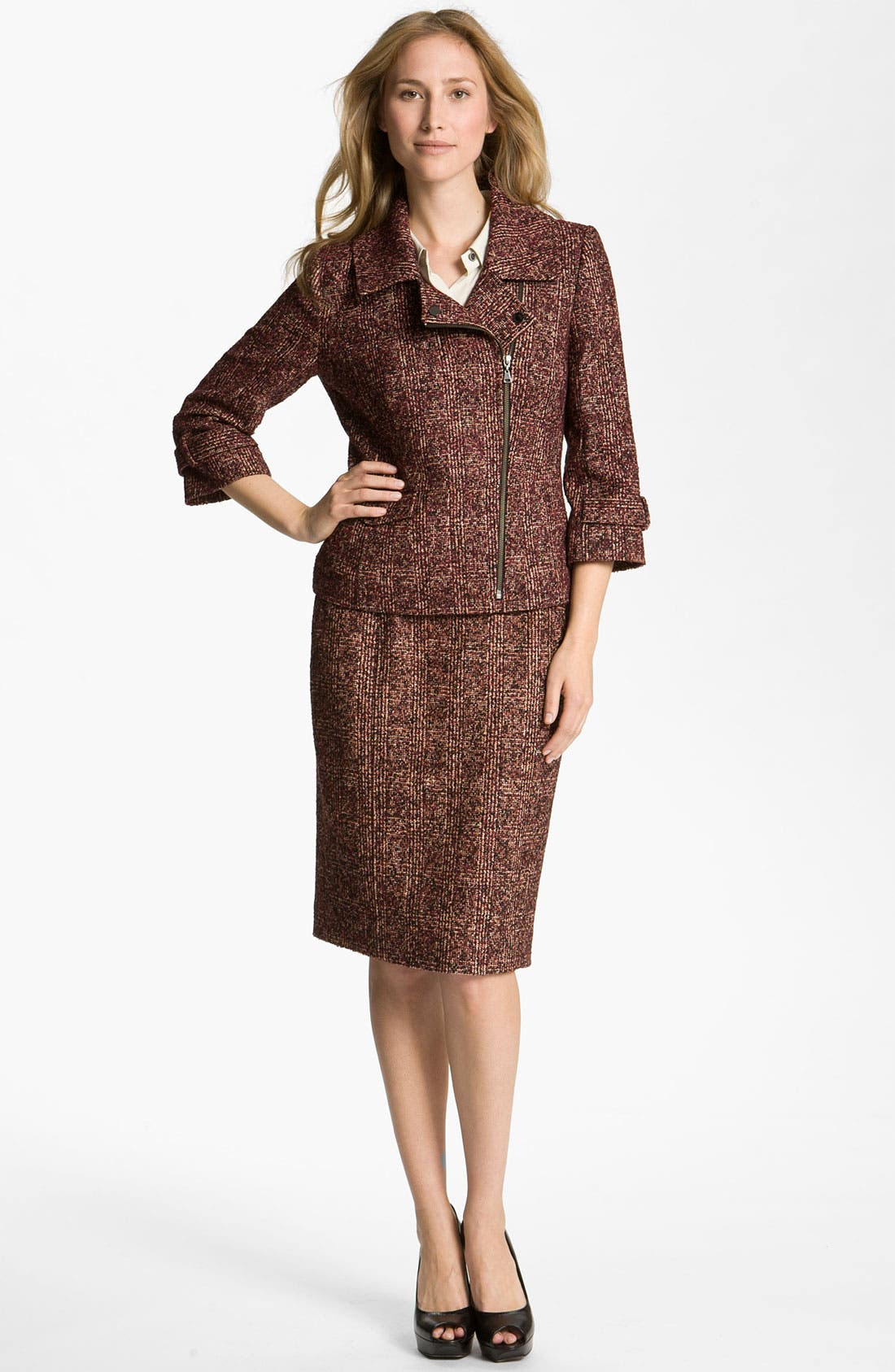 Alternate Image 4  - Nordstrom Collection 'Cambon' Tweed Pencil Skirt