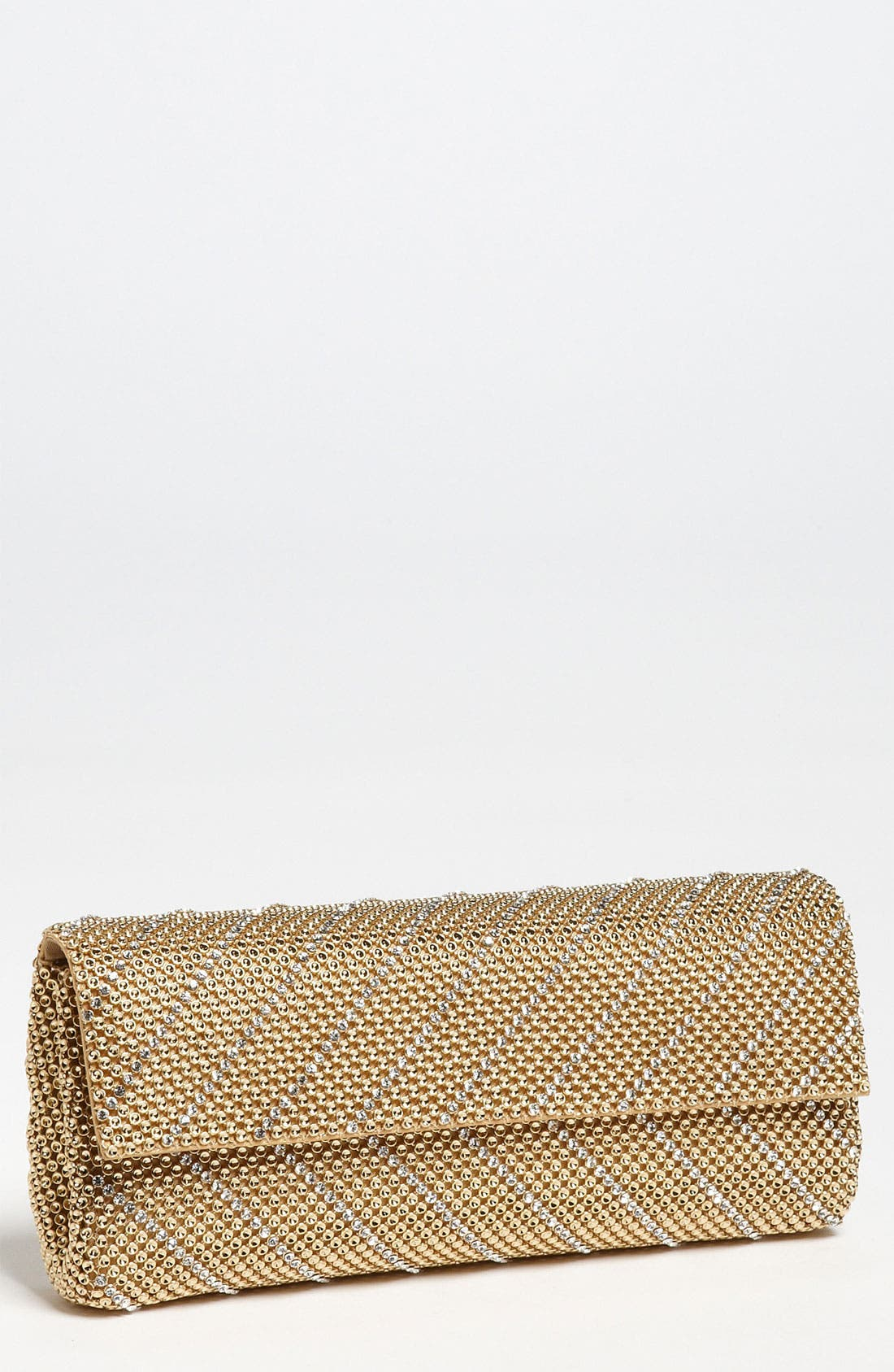 Main Image - Whiting & Davis 'Crystal Chevron' Flap Clutch