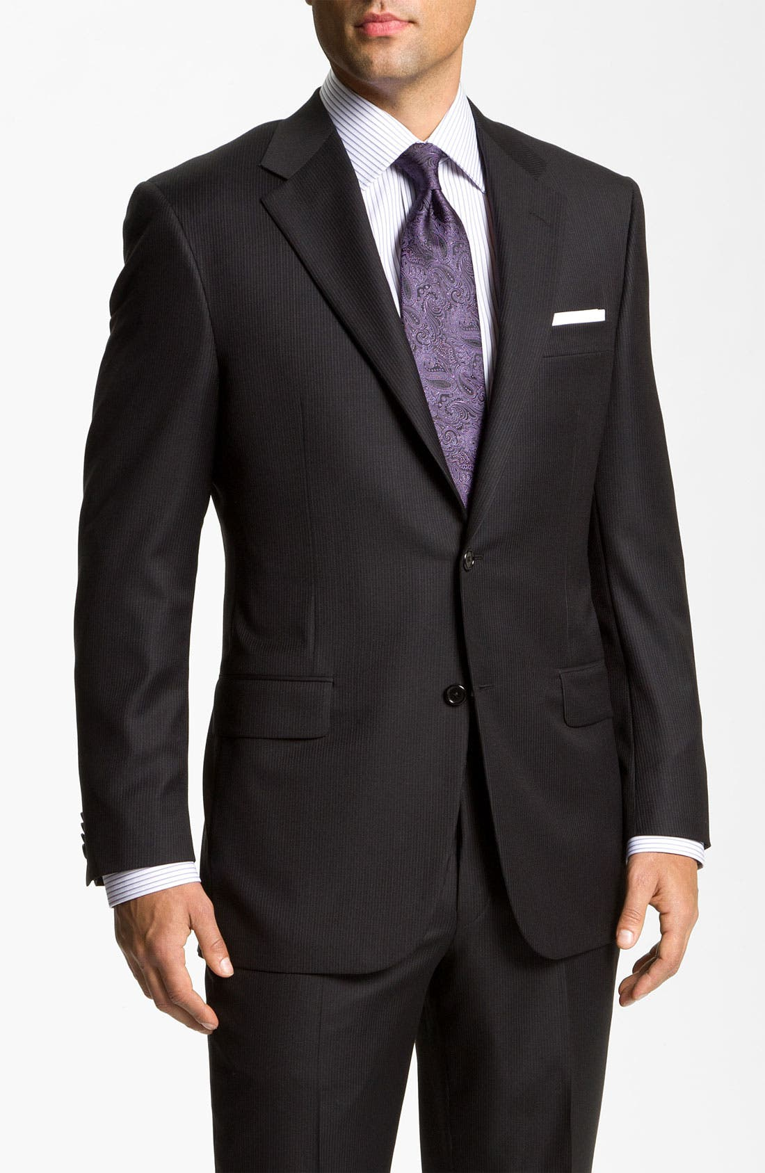 Alternate Image 1 Selected - Hickey Freeman Stripe Suit