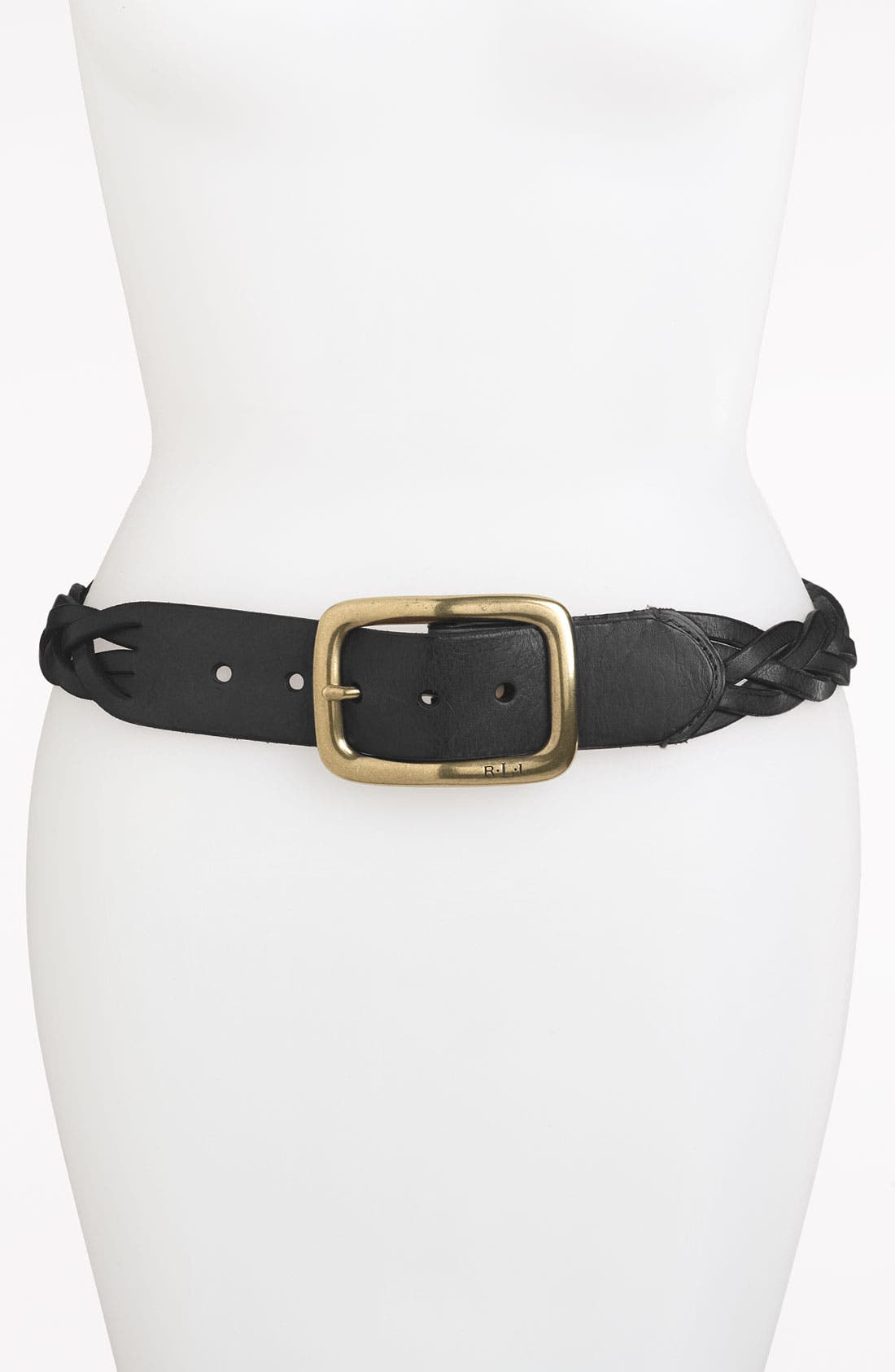 Alternate Image 1 Selected - Lauren Ralph Lauren Braided Belt
