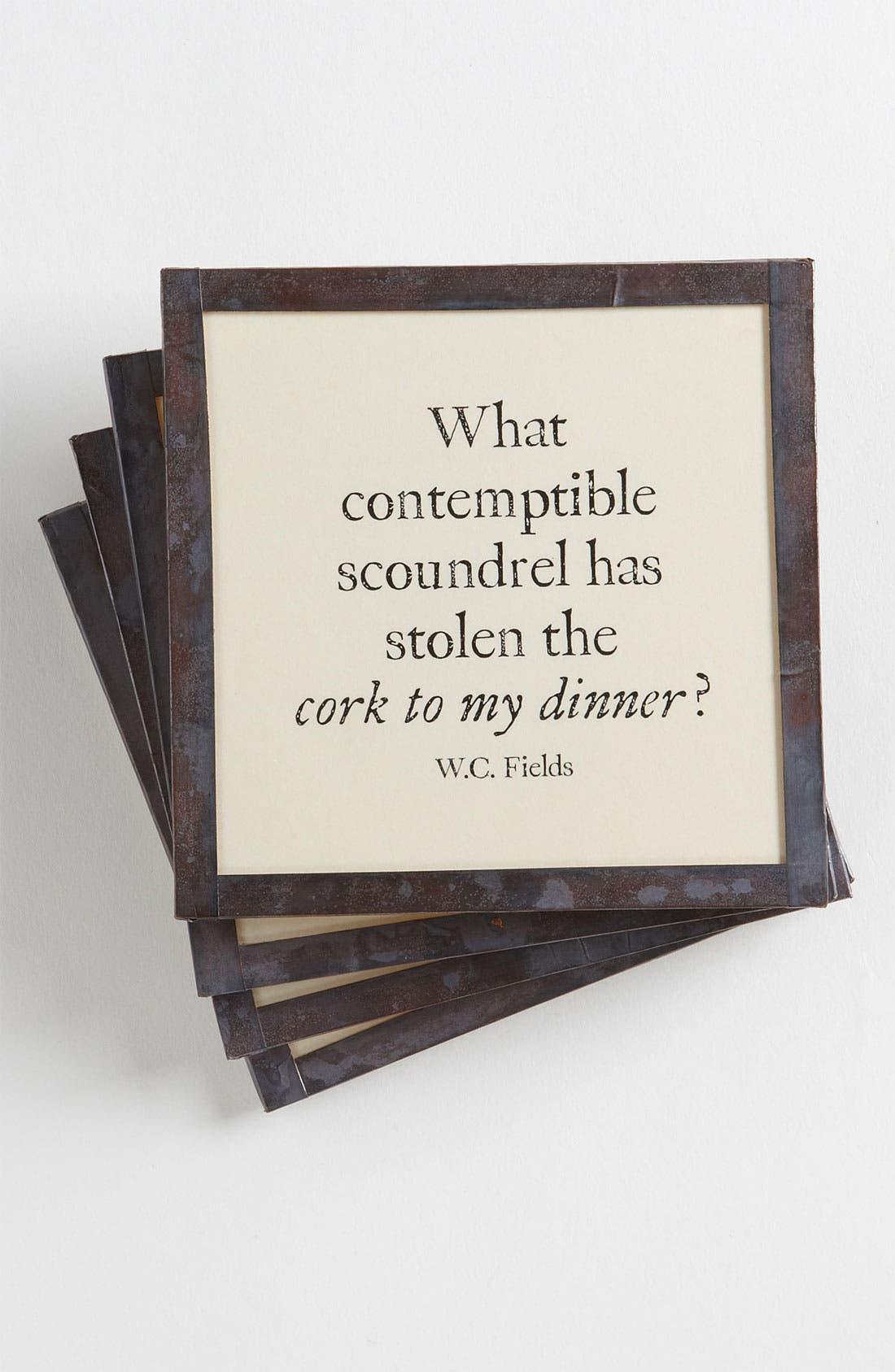 Alternate Image 1 Selected - Ben's Garden 'Cork to My Dinner' Coaster Set