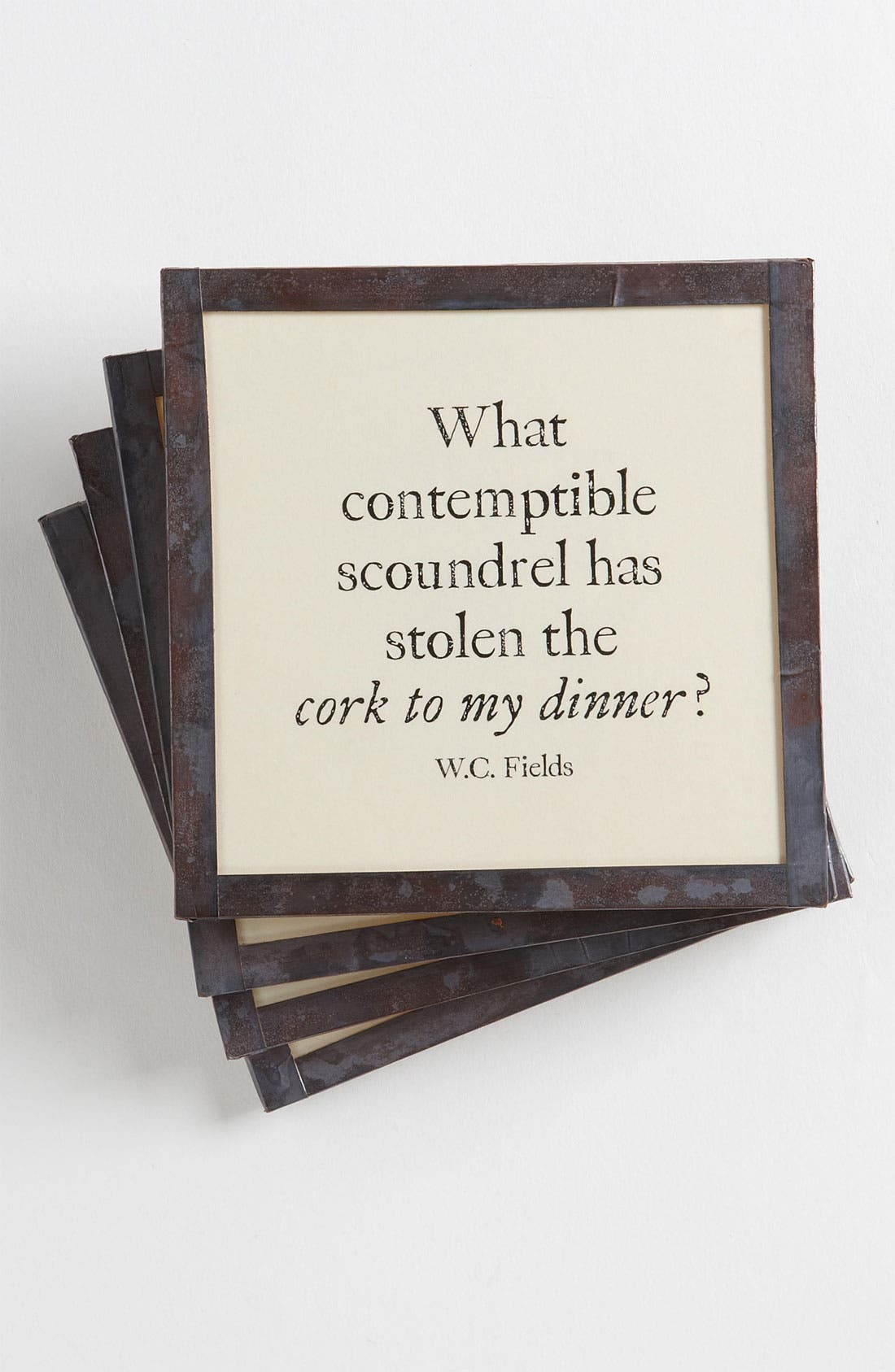 Main Image - Ben's Garden 'Cork to My Dinner' Coaster Set