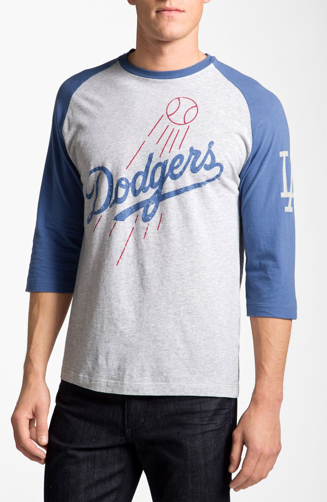 WRIGHT & DITSON 'Los Angeles Dodgers' Baseball T-Shirt