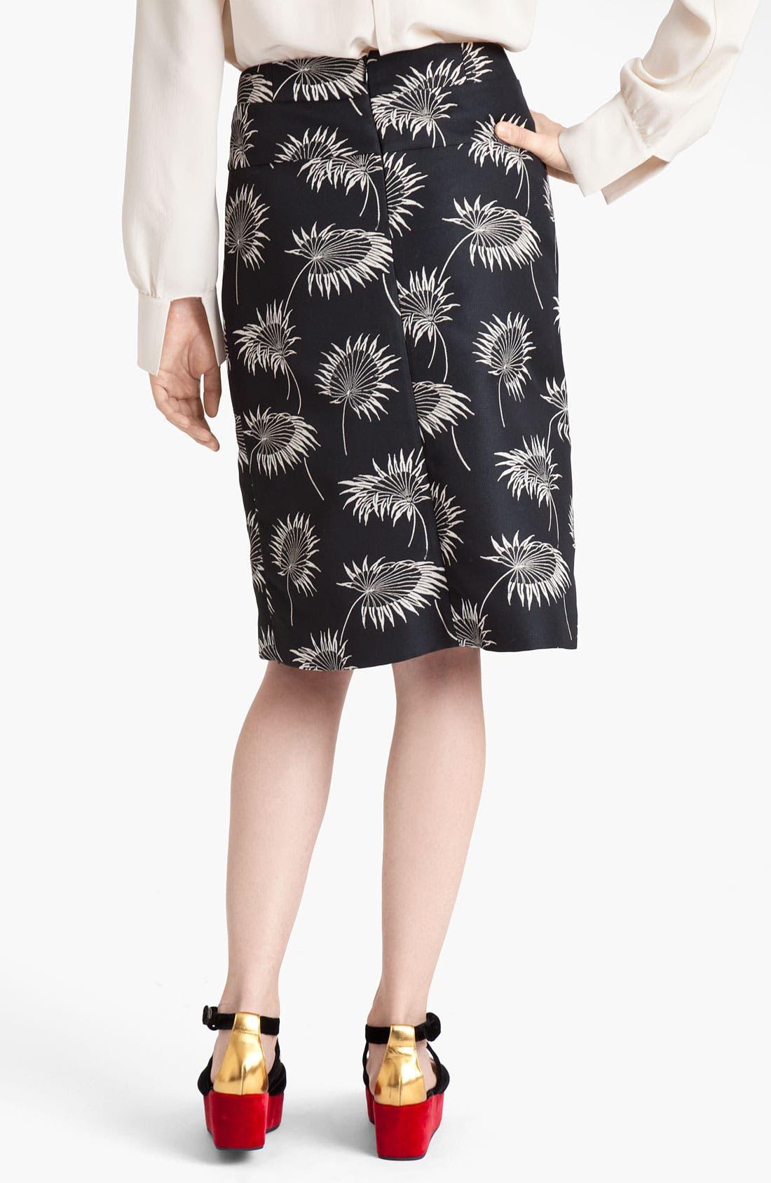 Alternate Image 2  - Marni Floral Print A-Line Skirt