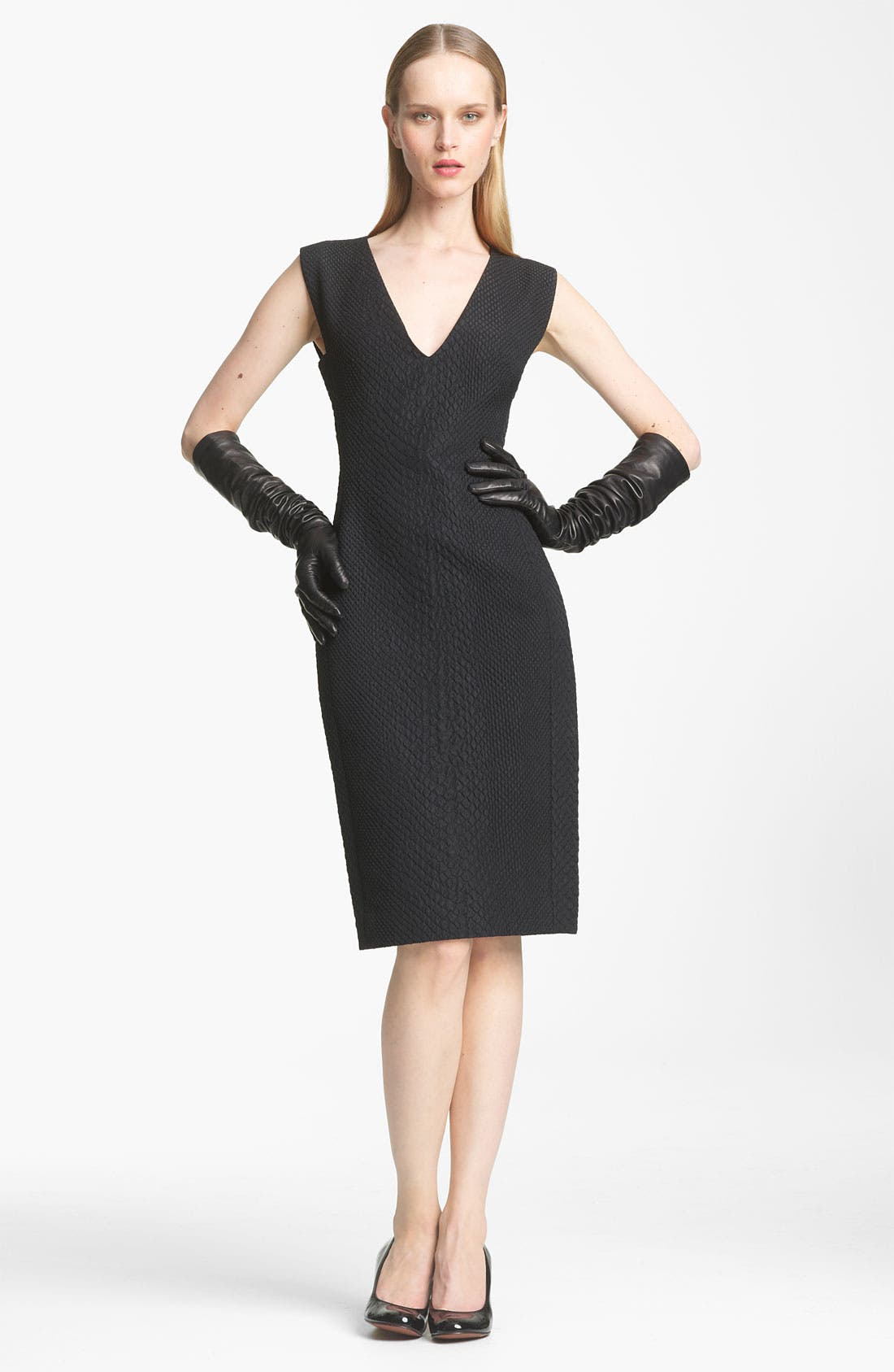 Main Image - Lanvin Python Print Cloqué Jacquard Dress