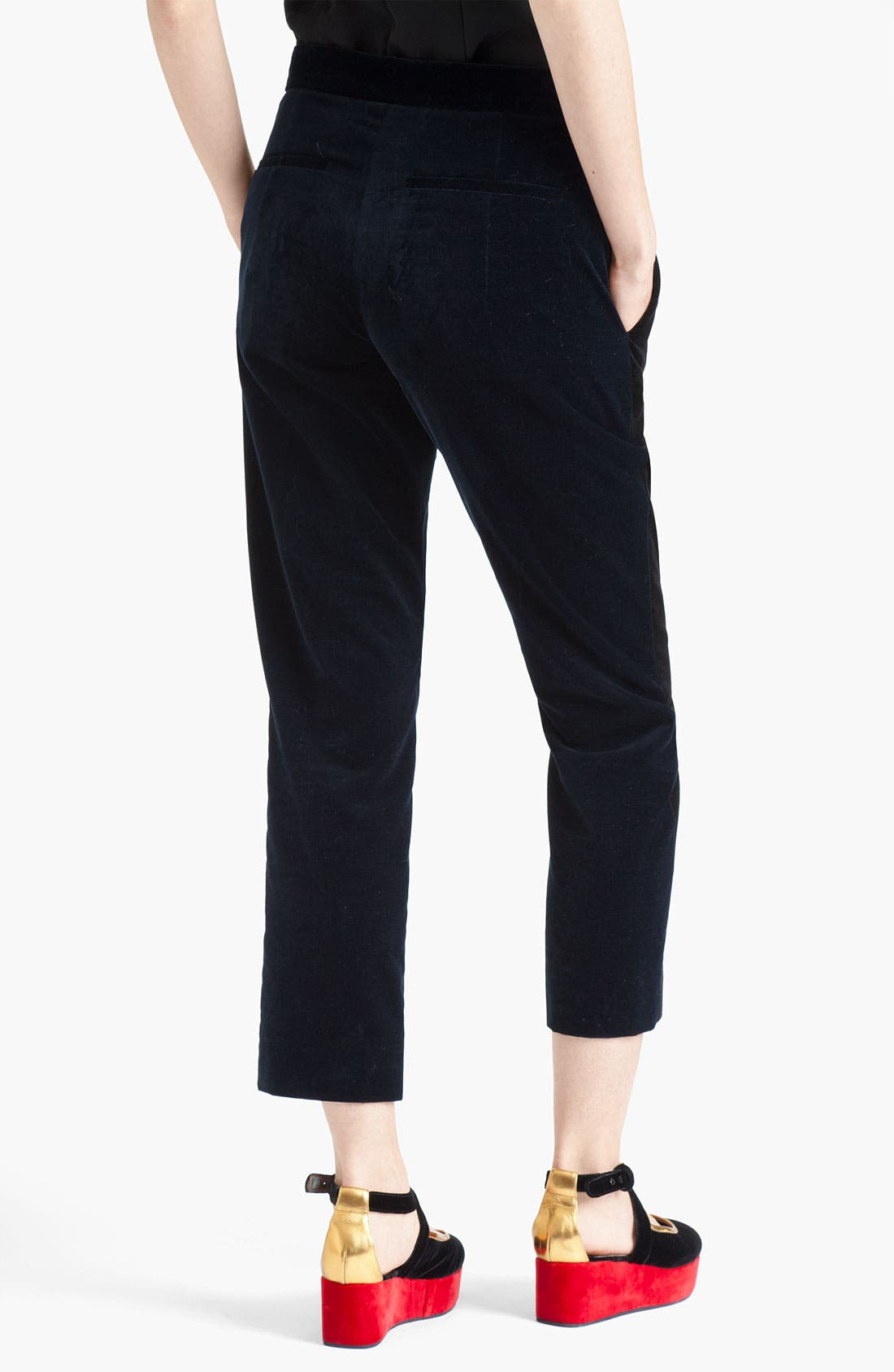 Alternate Image 2  - Marni Bicolor Velour Pants
