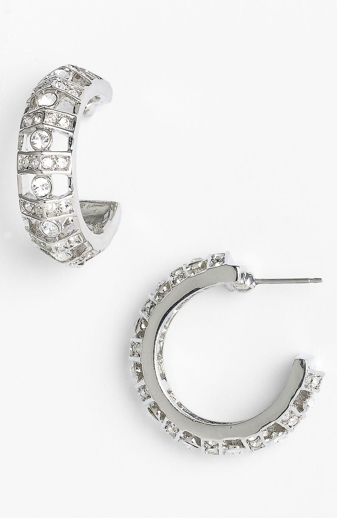 Alternate Image 1 Selected - Givenchy Small Crystal Hoop Earrings