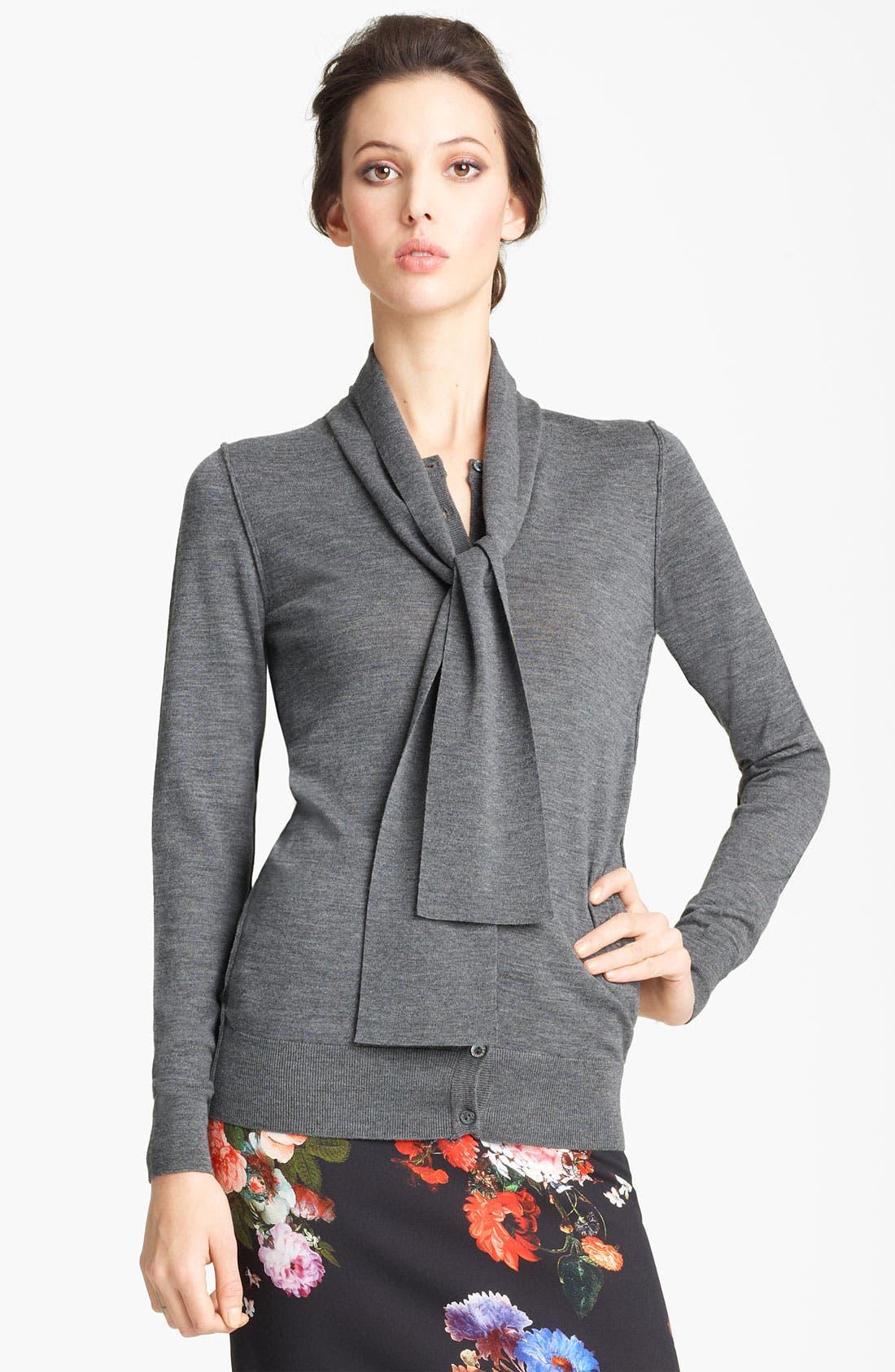 Alternate Image 1 Selected - Dolce&Gabbana Tie Neck Cardigan