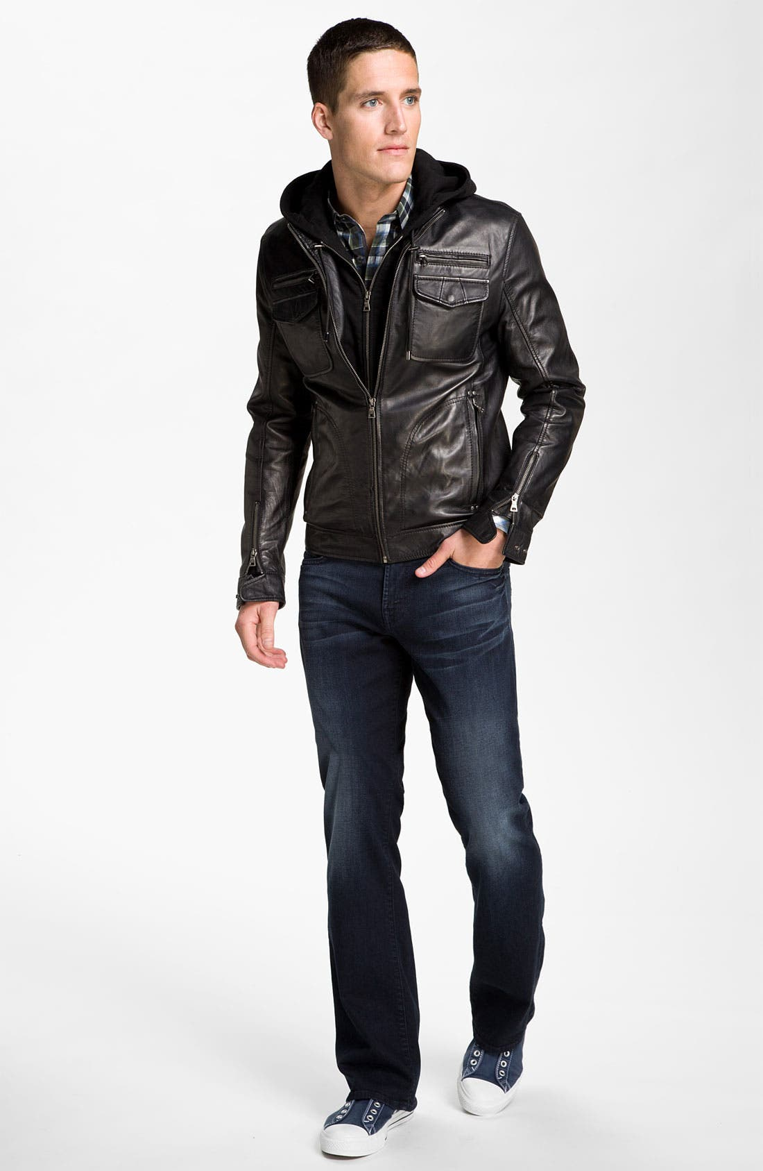 Alternate Image 6  - 7 Diamonds 'Manila' Trim Fit Leather Jacket
