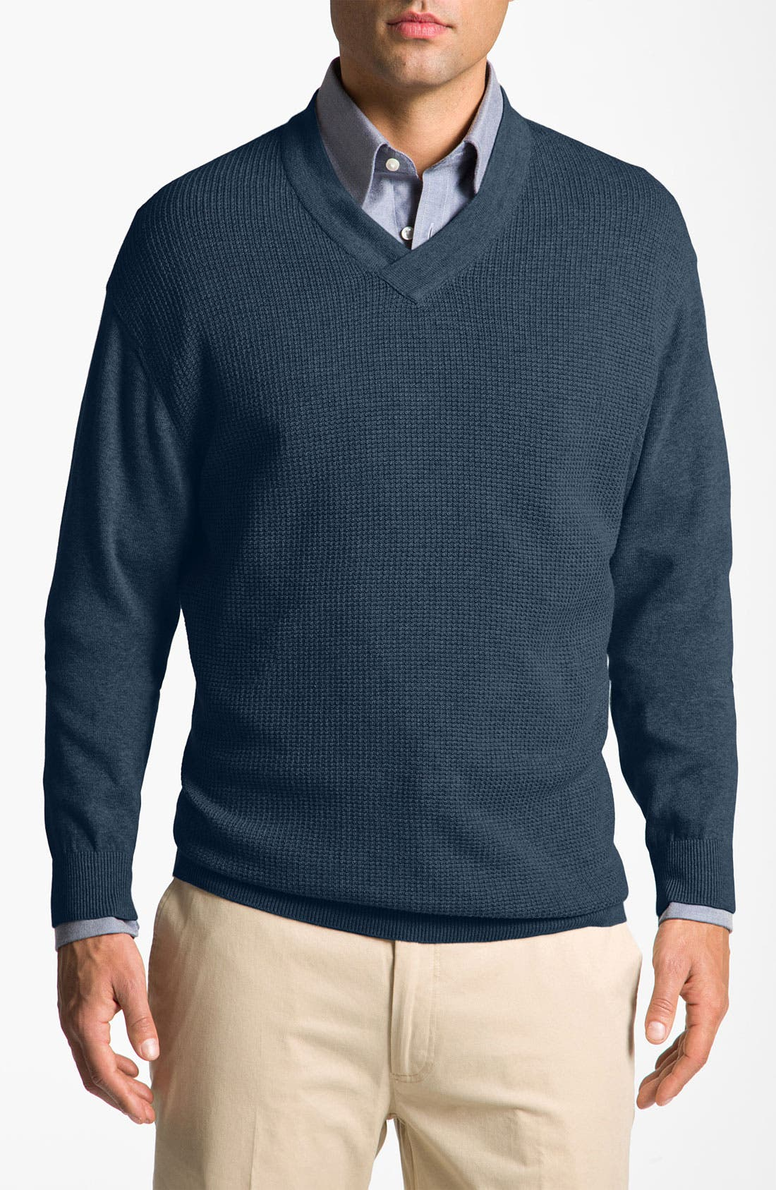 Alternate Image 1 Selected - Cutter & Buck 'Portage Bay' V-Neck Sweater (Big & Tall)